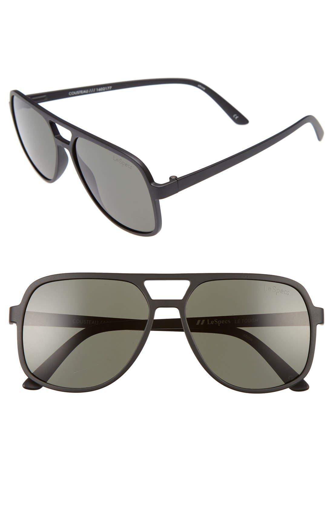 Cousteau 58mm Sunglasses,                             Main thumbnail 1, color,                             001