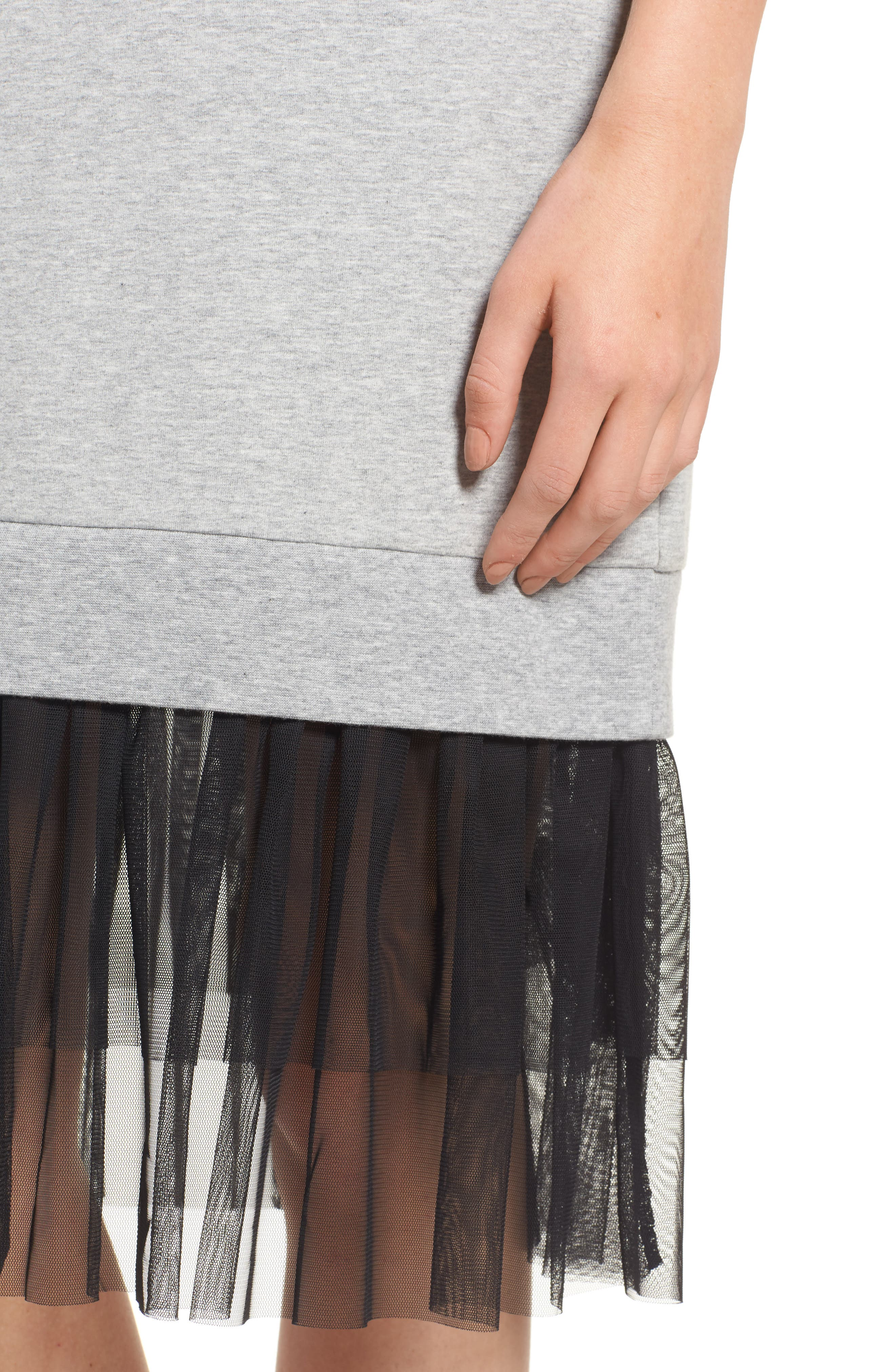 Ruffle Hem Midi Dress,                             Alternate thumbnail 4, color,                             030