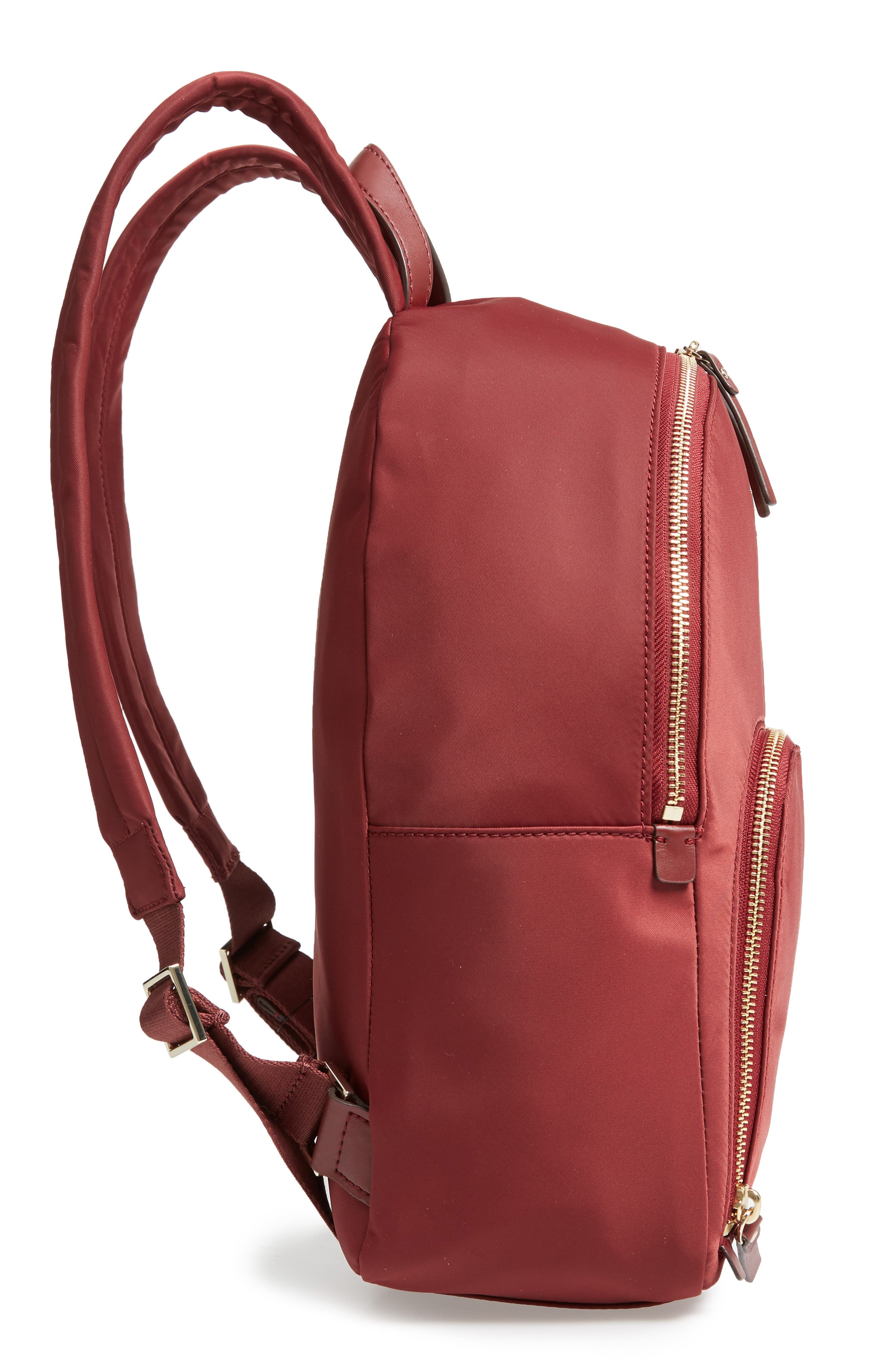watson lane - hartley nylon backpack,                             Alternate thumbnail 5, color,                             DARK CURRANT