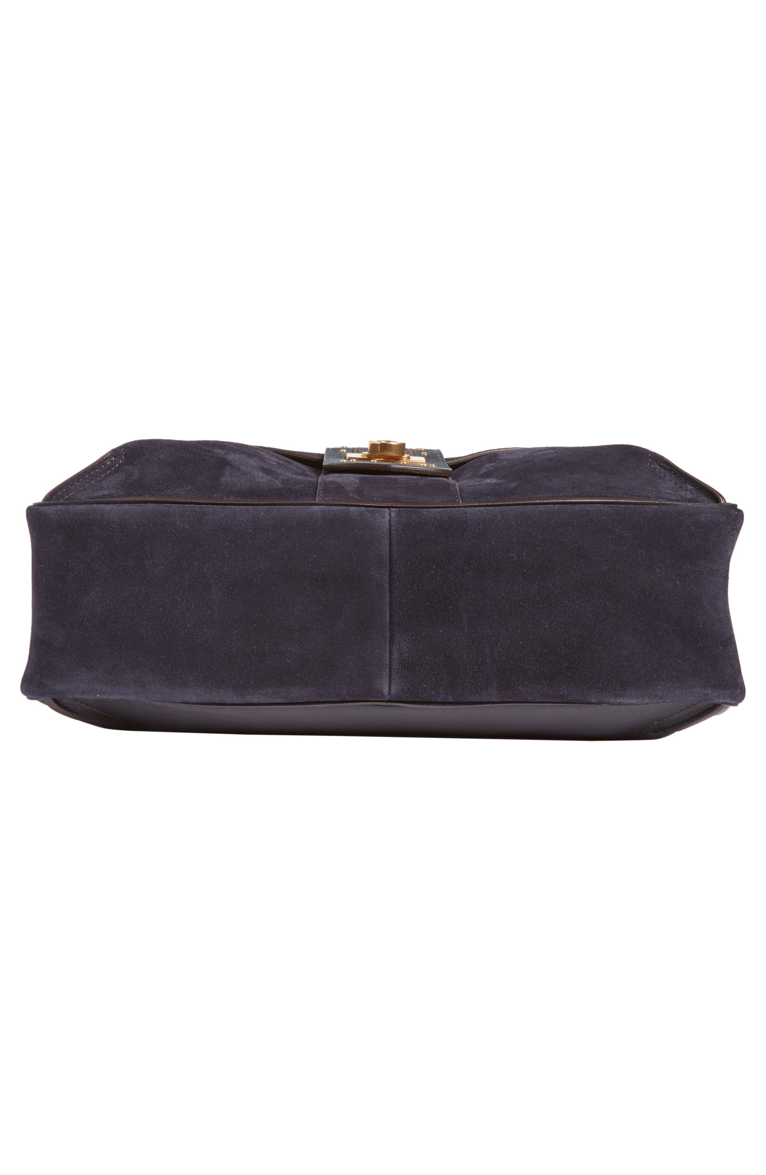 Medium Lexa Suede Shoulder Bag,                             Alternate thumbnail 5, color,                             412