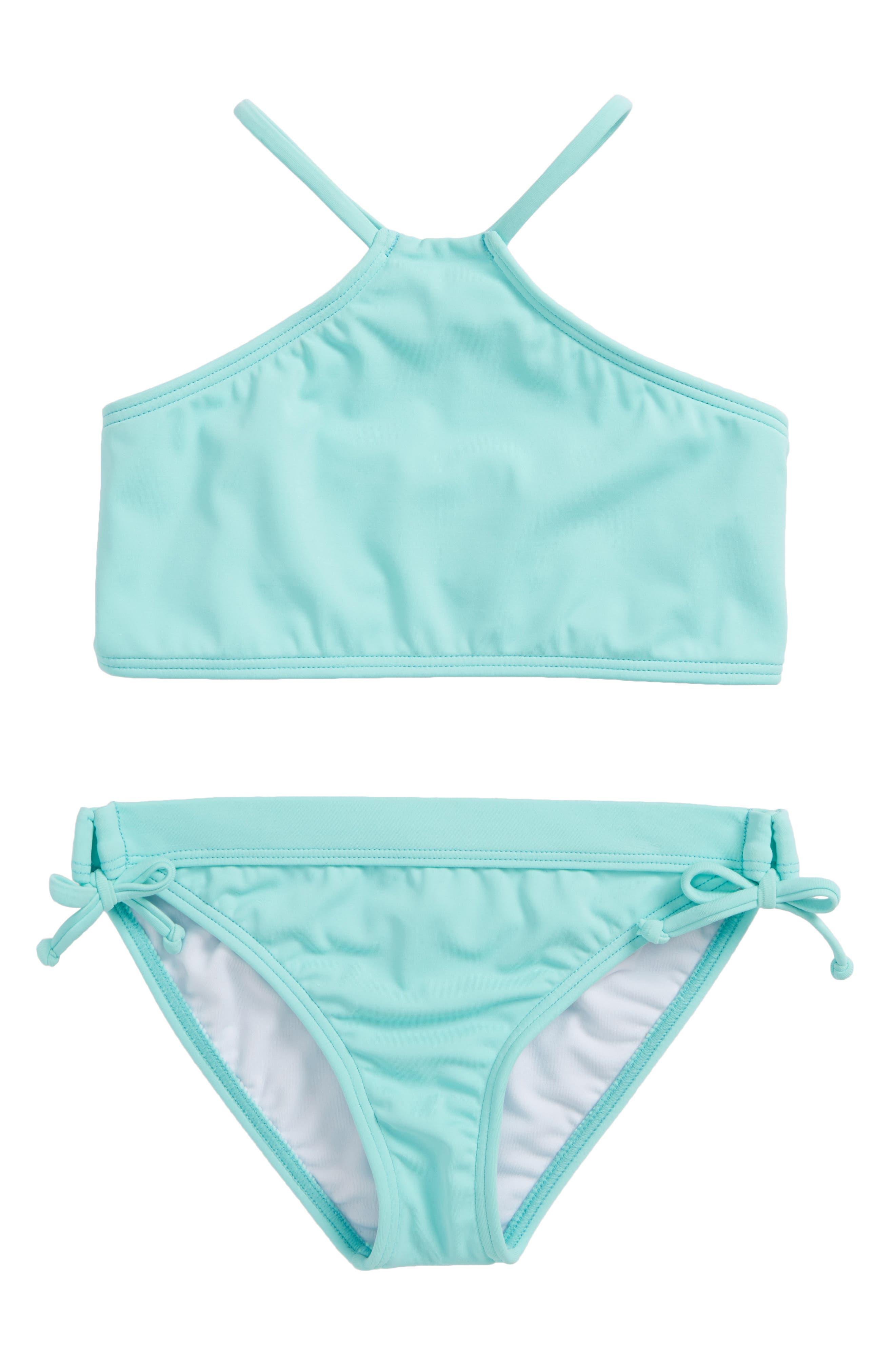 Sol Searcher High Neck Two-Piece Swimsuit,                             Main thumbnail 1, color,                             414