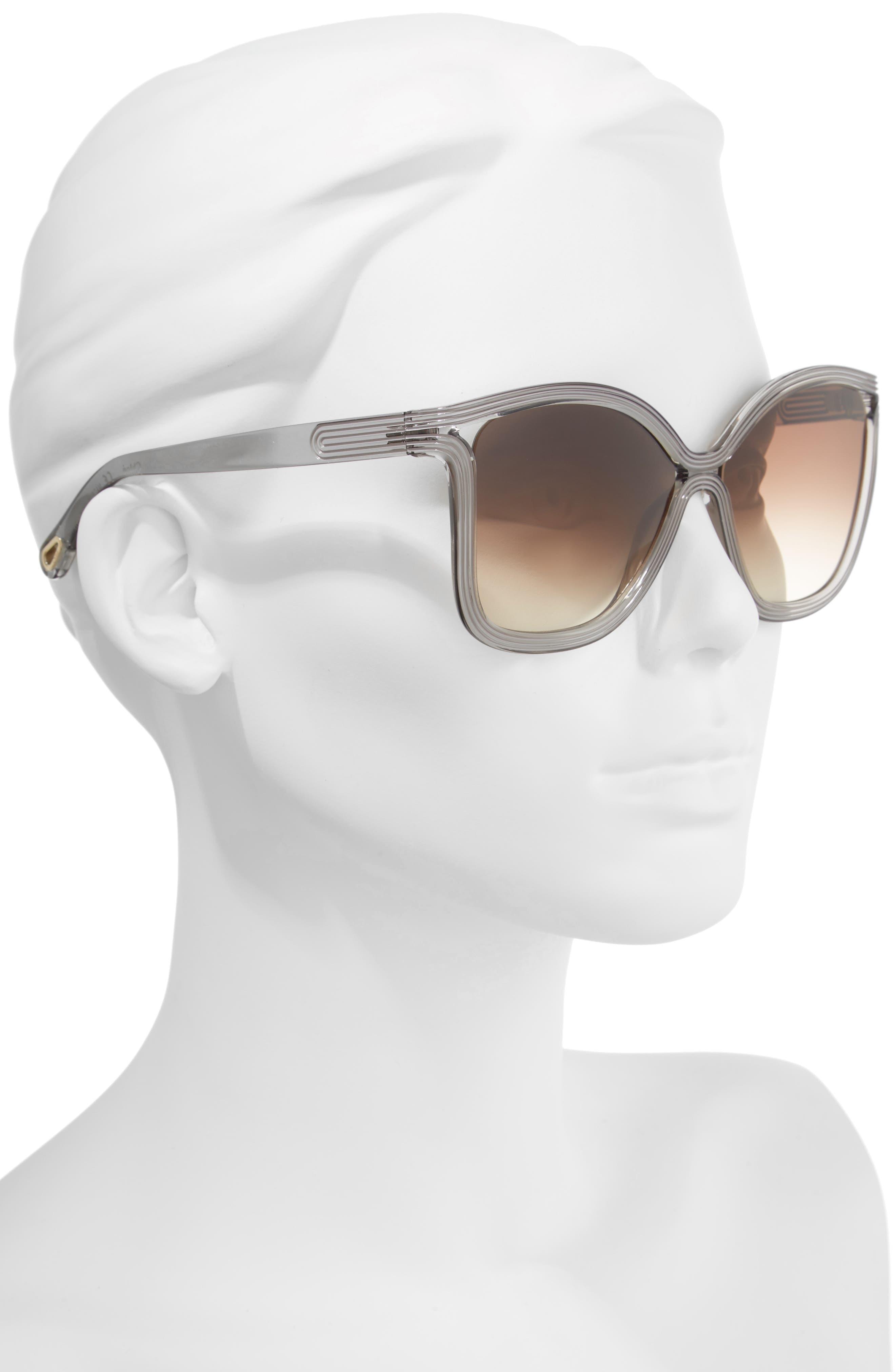 Grooves 58mm Rectangular Sunglasses,                             Alternate thumbnail 6, color,