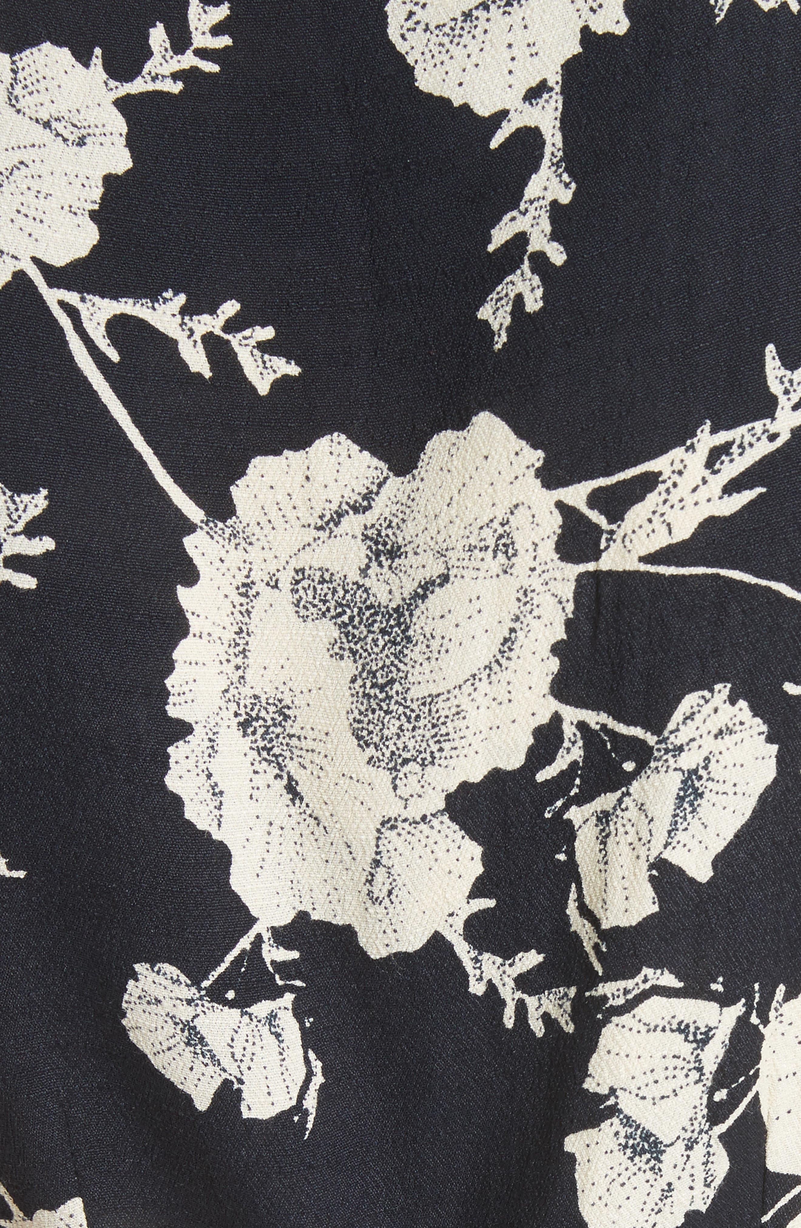 French Quarter Print Wrap Minidress,                             Alternate thumbnail 6, color,                             001