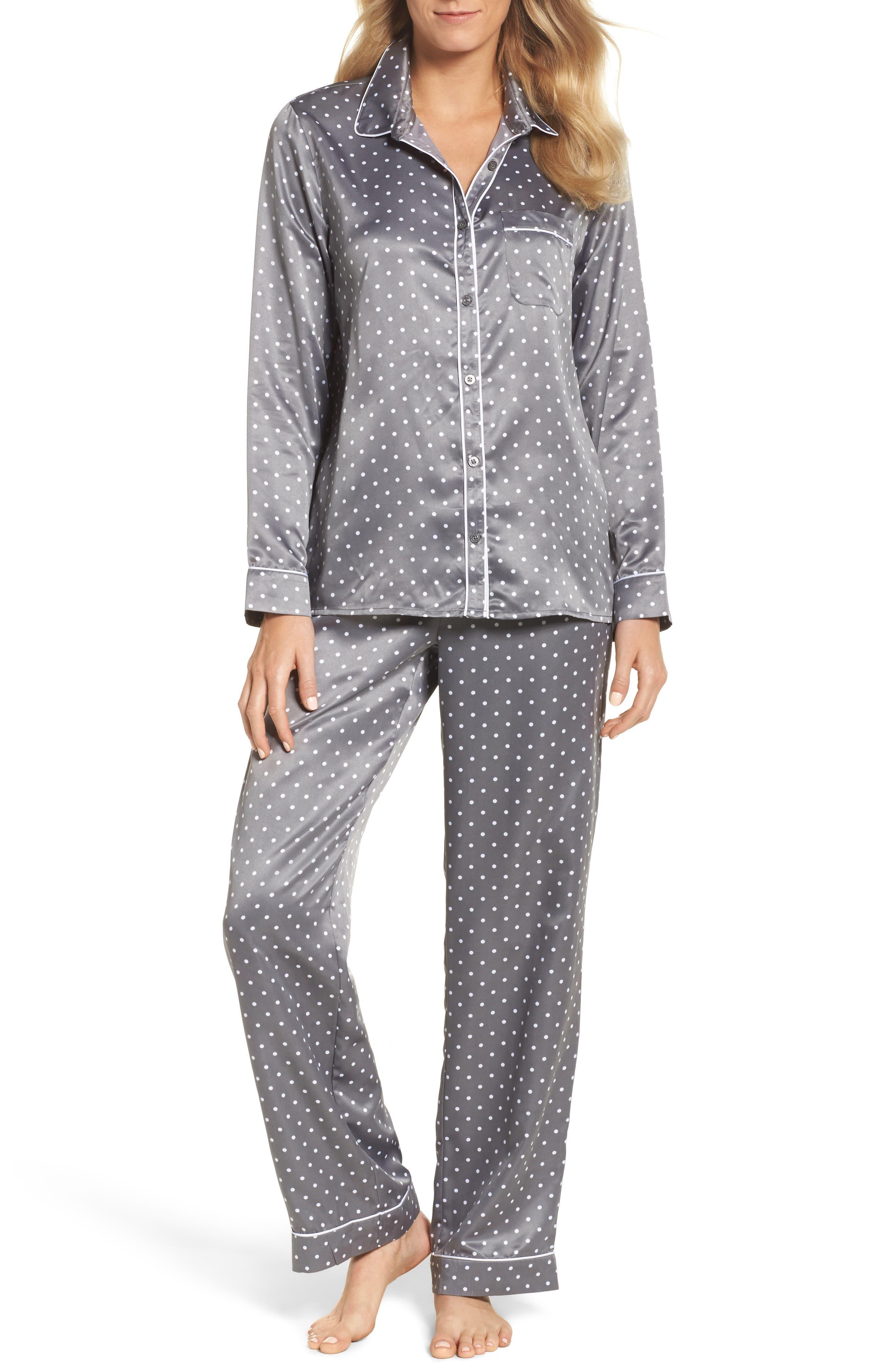 Satin Pajamas,                             Main thumbnail 1, color,                             021