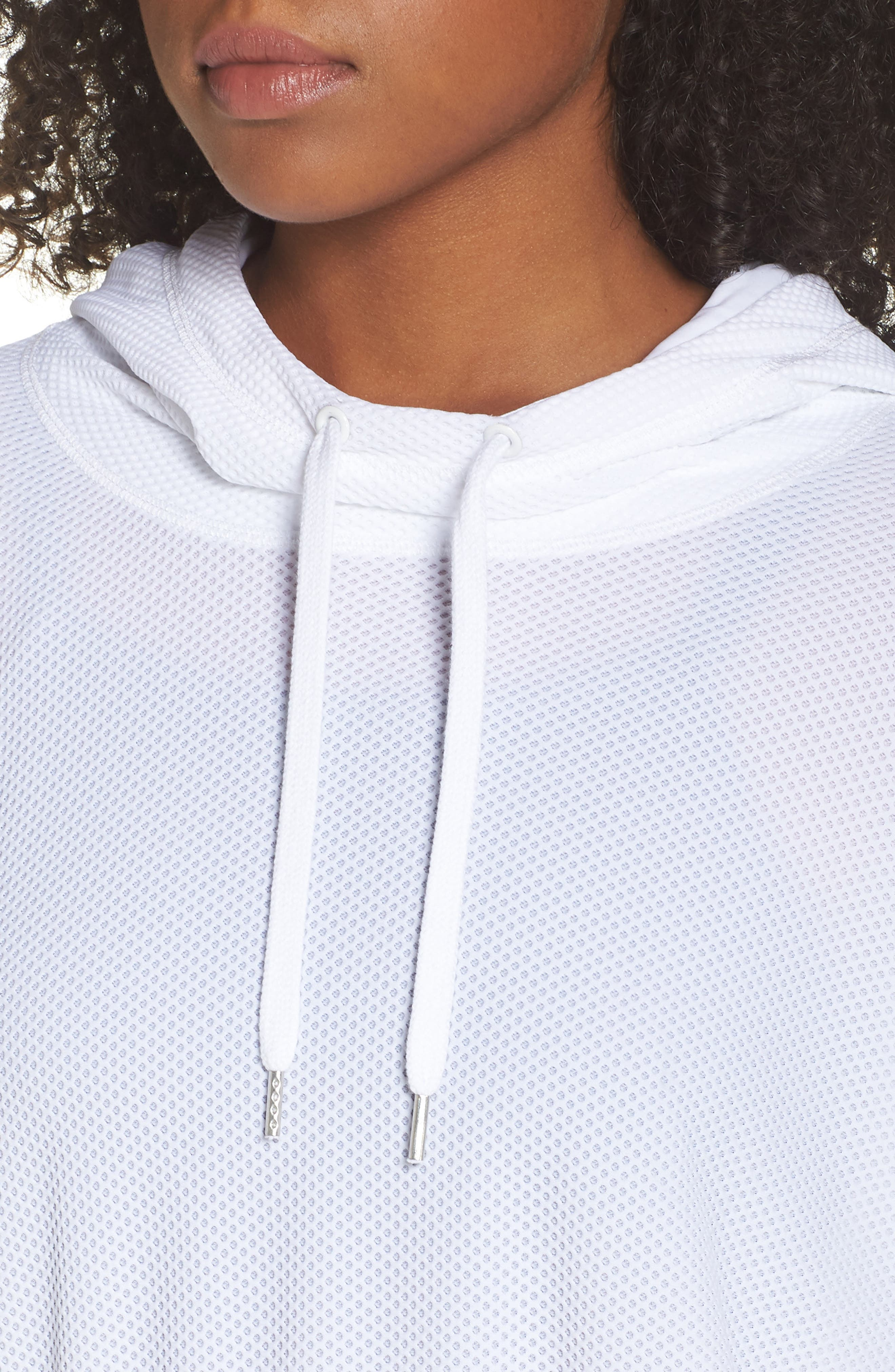 BoomBoom Athletica Bubble Mesh Hoodie,                             Alternate thumbnail 4, color,                             100