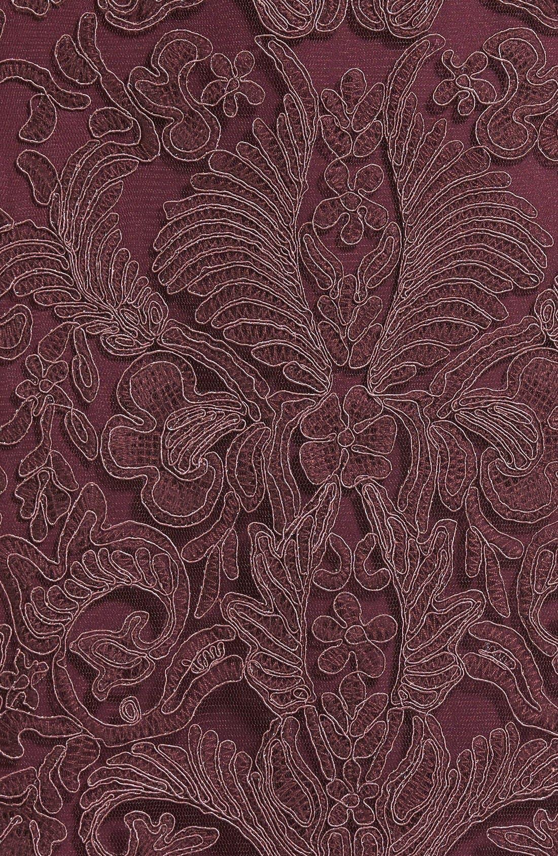 Illusion Yoke Lace Sheath Dress,                             Alternate thumbnail 111, color,