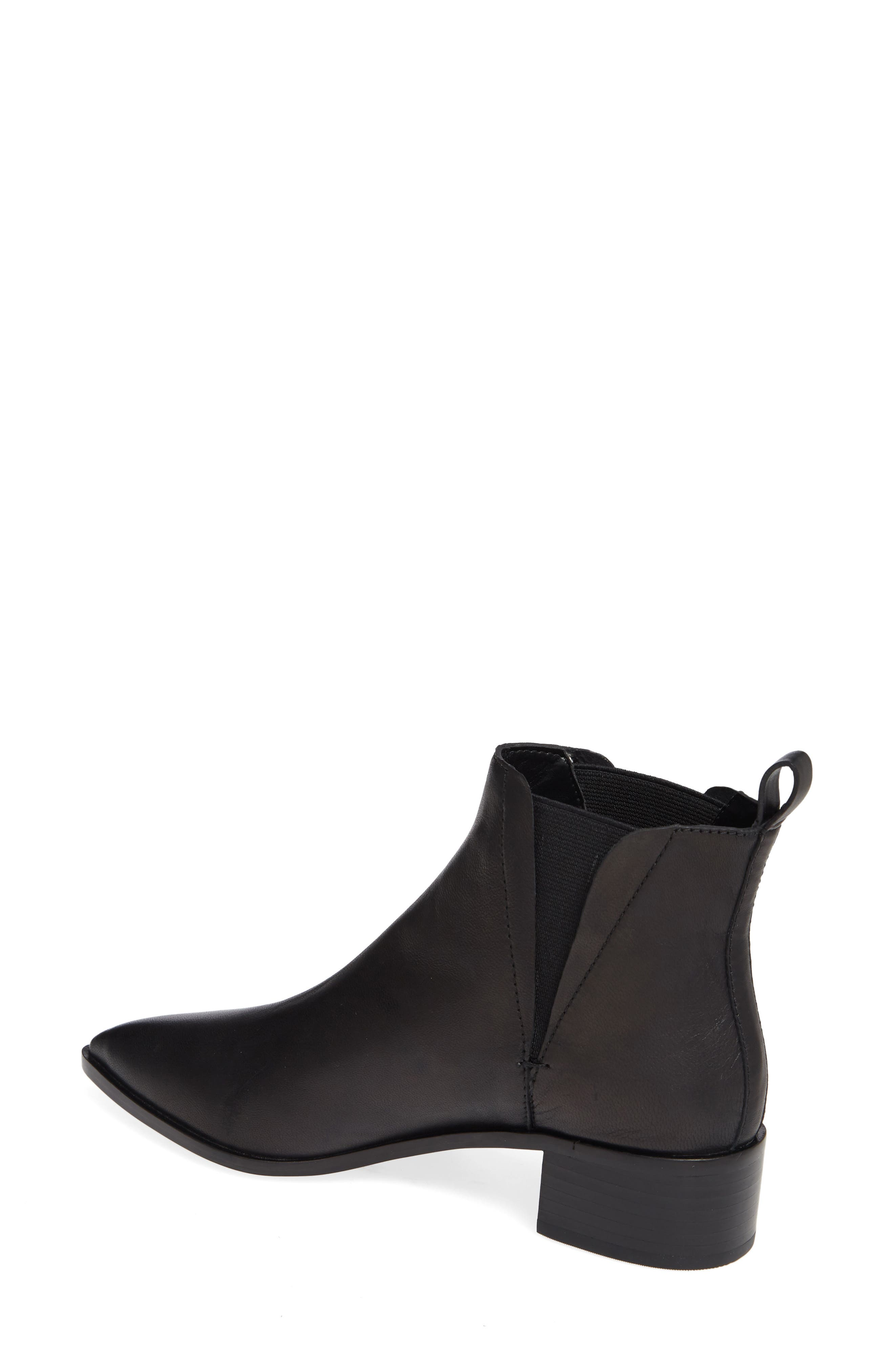 Taylor Bootie,                             Alternate thumbnail 2, color,                             BLACK LEATHER