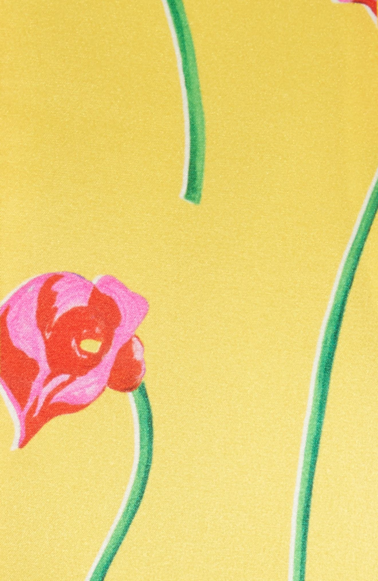 Marie Stretch Silk Slipdress,                             Alternate thumbnail 5, color,                             YELLOW