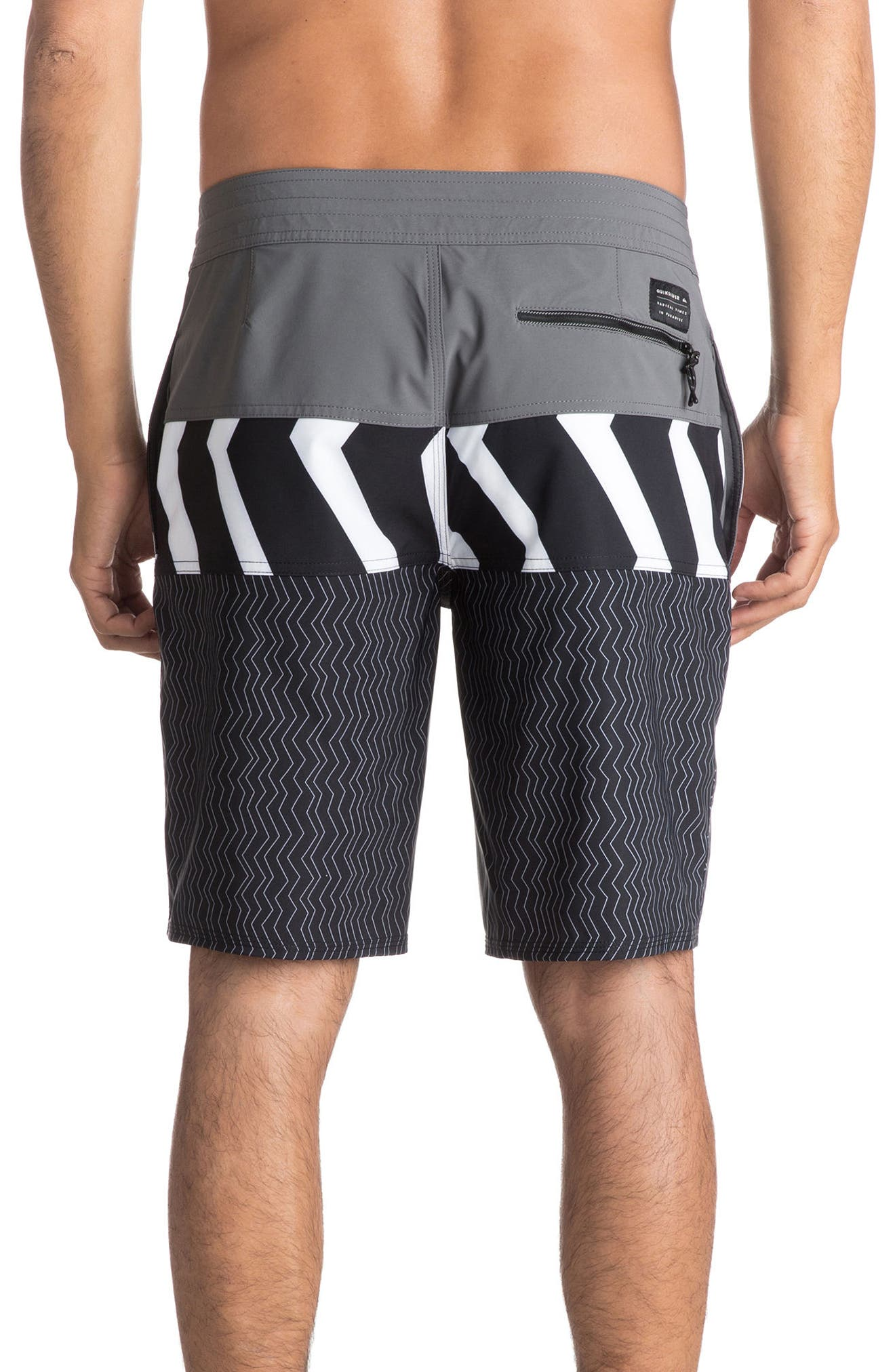 Zigzag Blocked Board Shorts,                             Alternate thumbnail 2, color,                             020