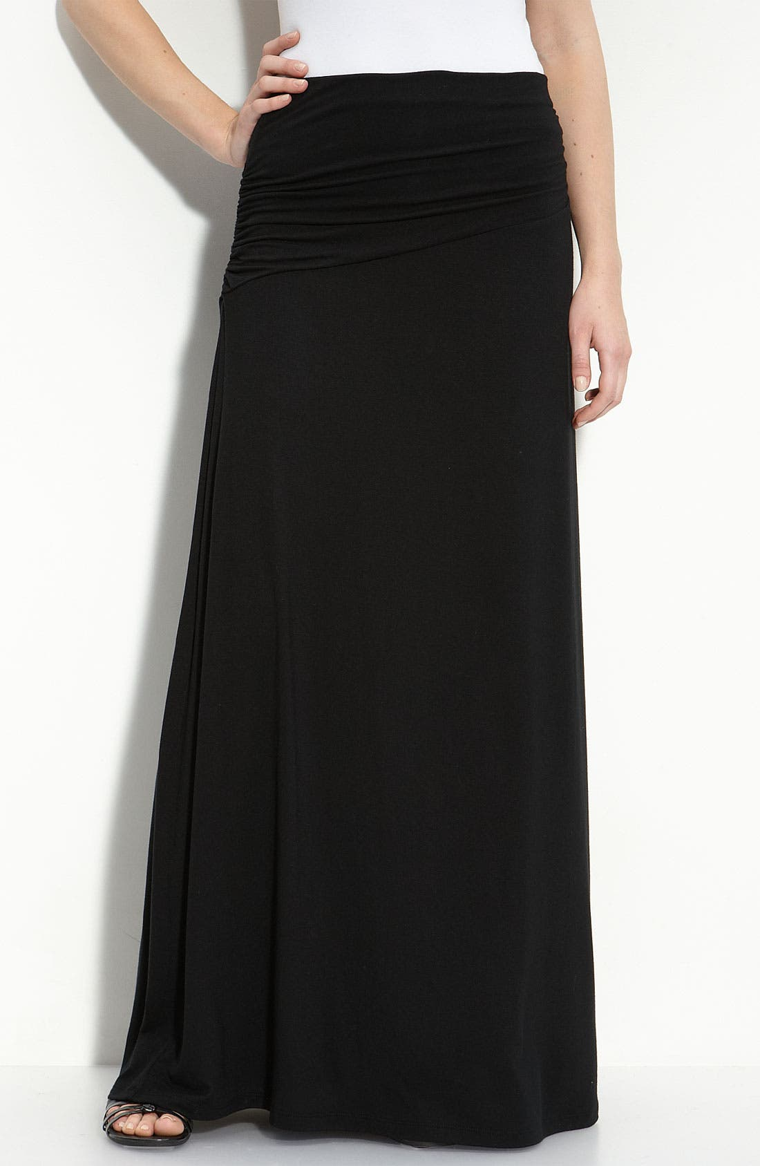 Asymmetric Knit Maxi Skirt,                             Main thumbnail 1, color,