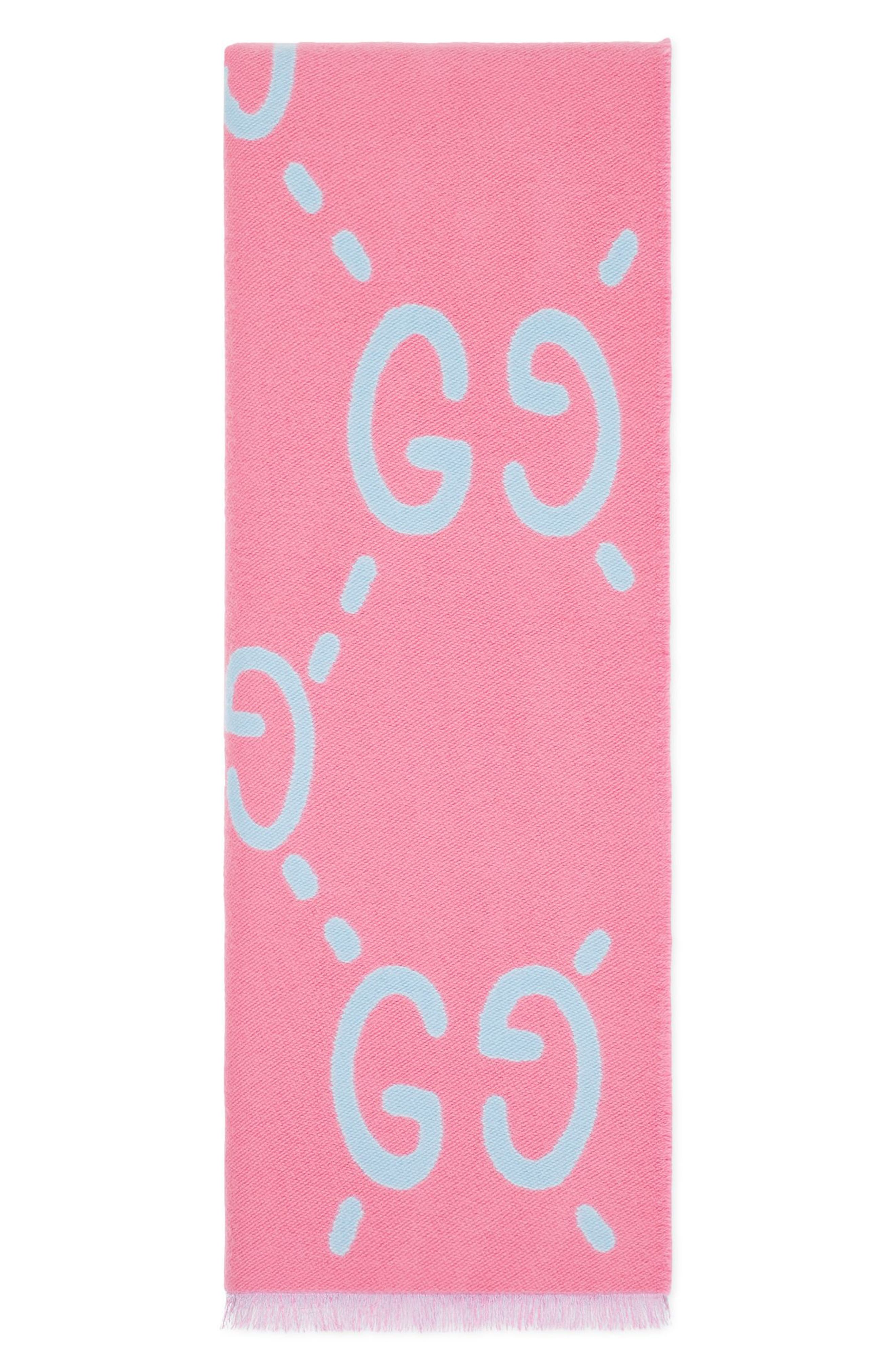 GG Freedom Wool & Silk Scarf,                             Alternate thumbnail 5, color,                             400