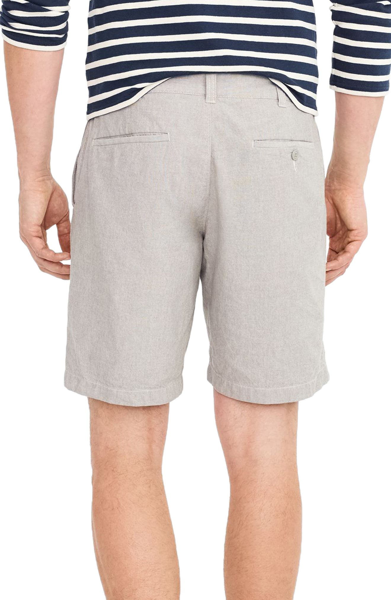 Stretch Chambray Shorts,                             Alternate thumbnail 2, color,                             020