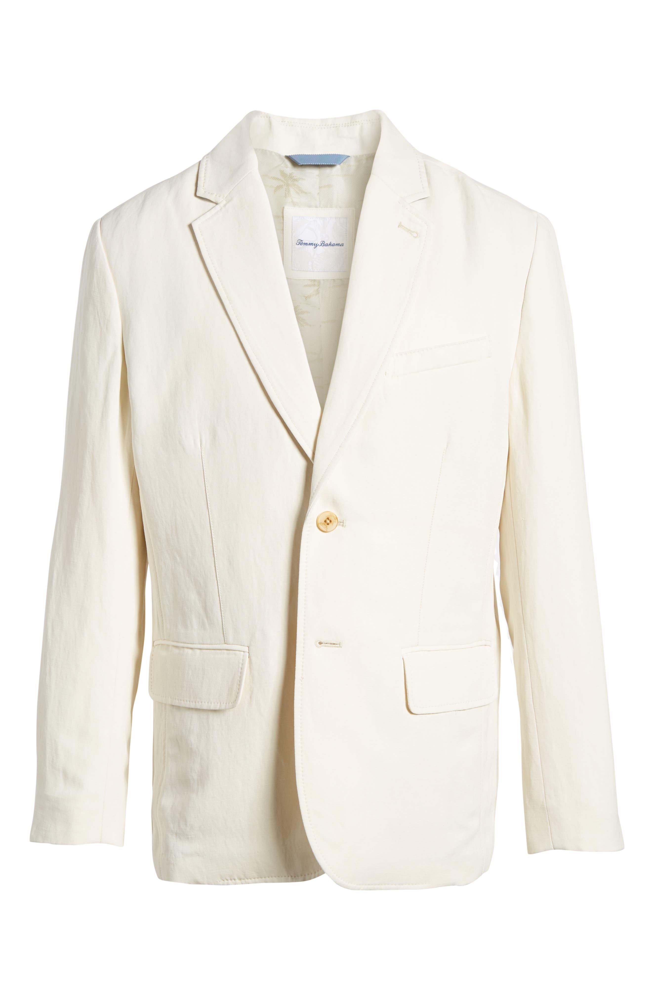 TOMMY BAHAMA,                             Monterey Silk & Linen Blazer,                             Alternate thumbnail 5, color,                             WARM SAND
