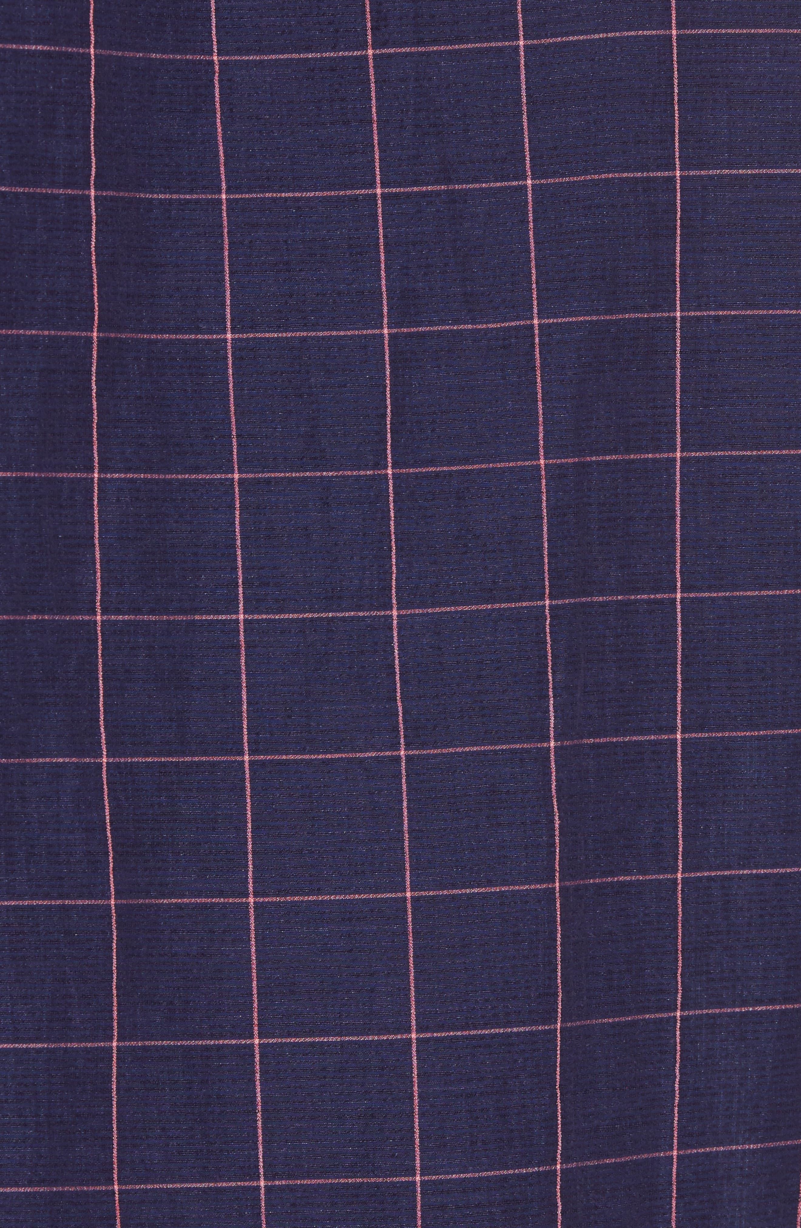 Tullarmore Windowpane Sport Shirt,                             Alternate thumbnail 5, color,