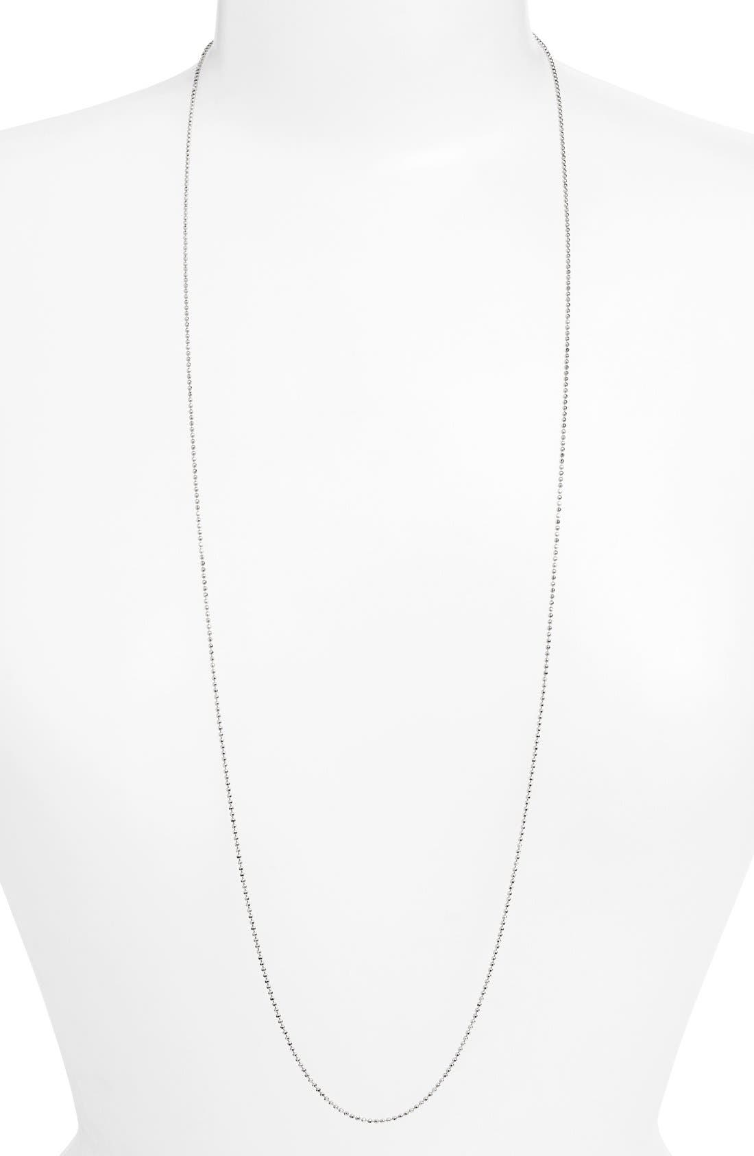 Long Ball Chain Necklace,                         Main,                         color, 040