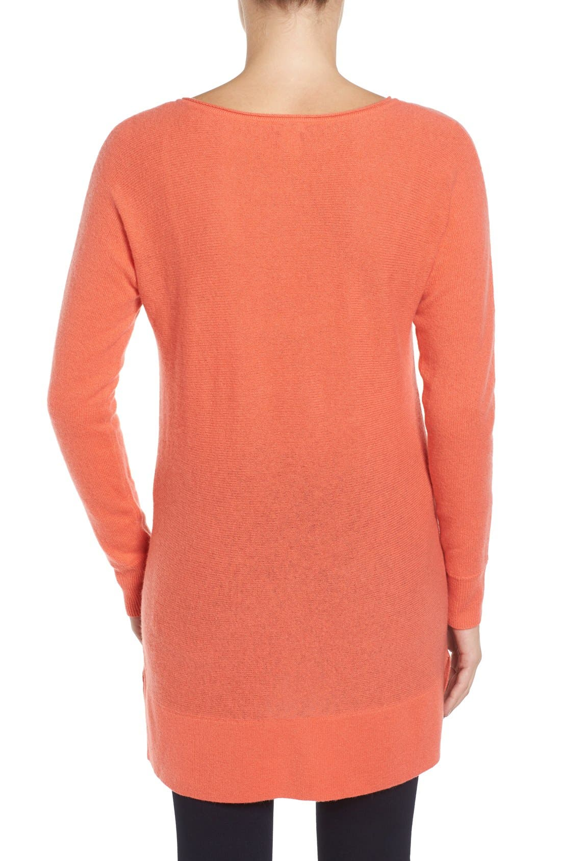 High/Low Wool & Cashmere Tunic Sweater,                             Alternate thumbnail 36, color,