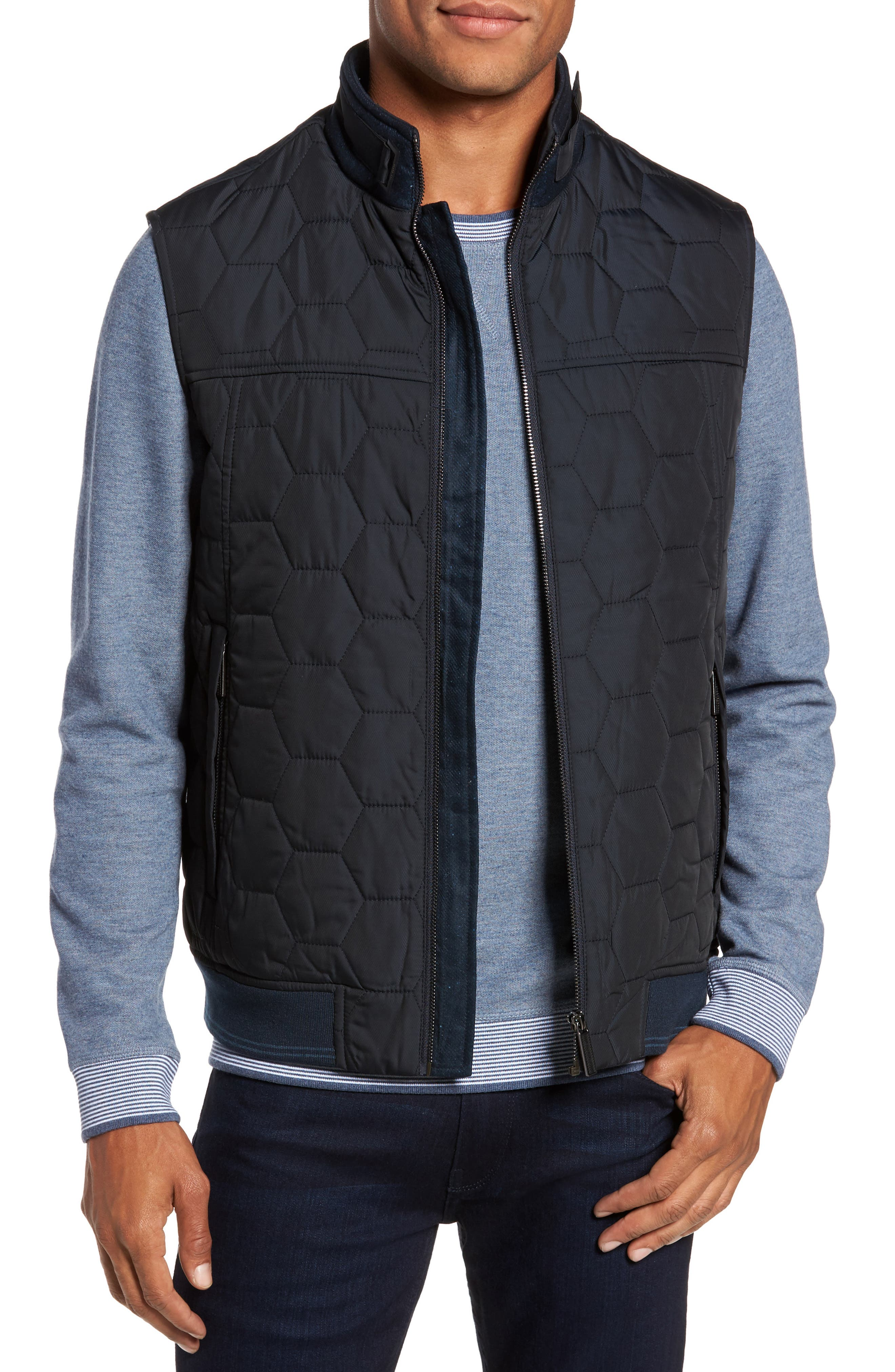 Ferny Quilted Vest,                             Main thumbnail 1, color,