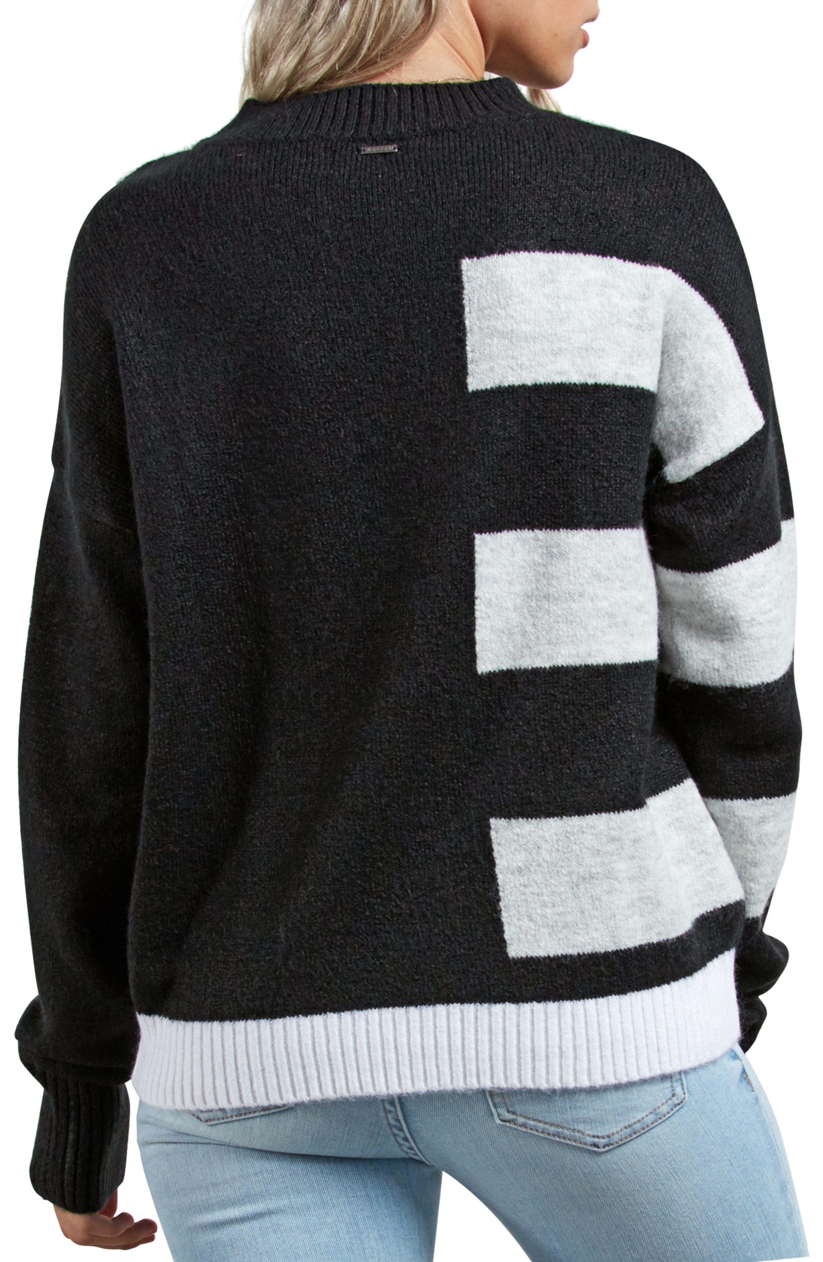 VOLCOM,                             Cold Stripe Sweater,                             Alternate thumbnail 2, color,                             001