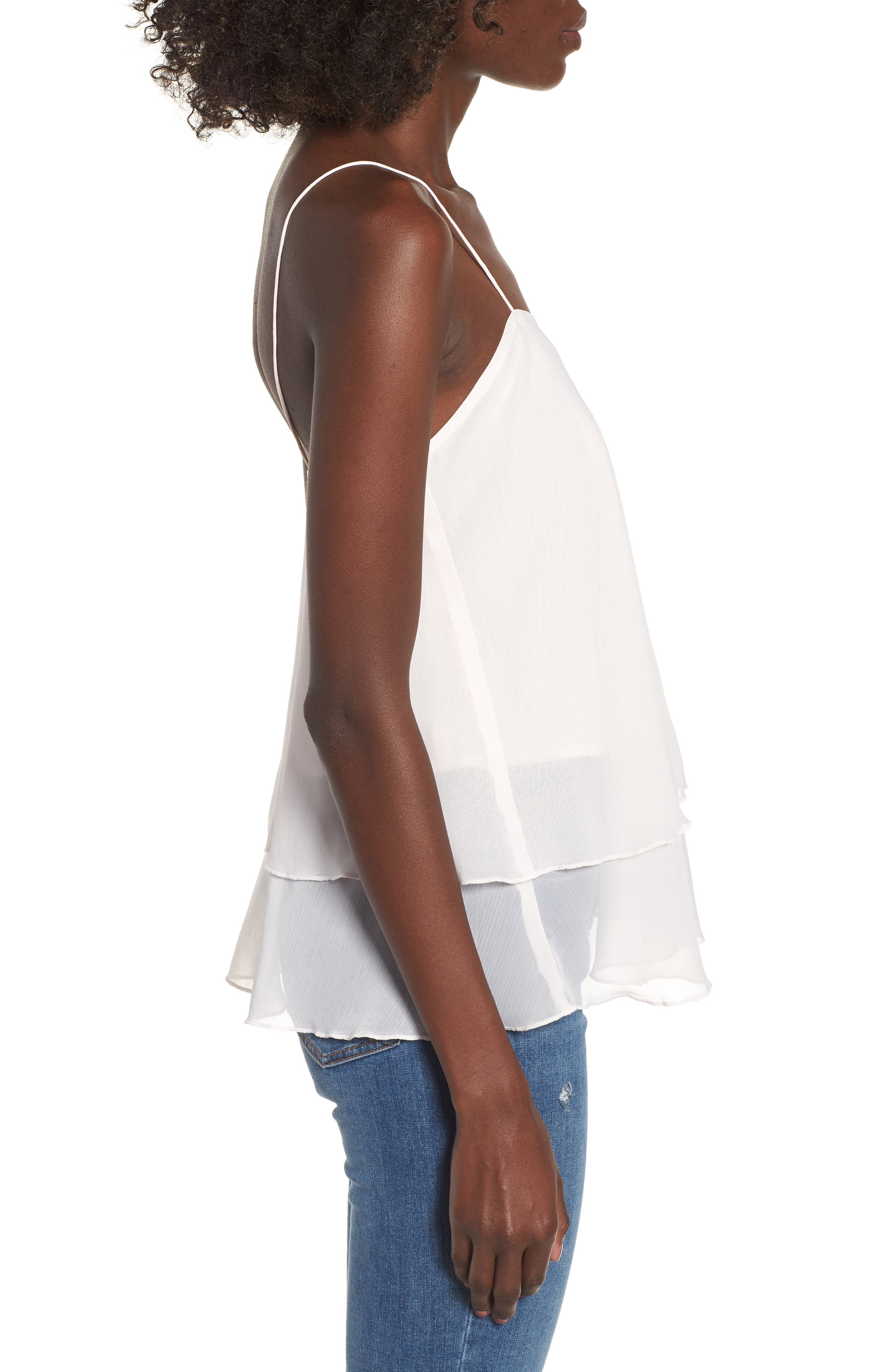 Tiered Chiffon Camisole,                             Alternate thumbnail 9, color,