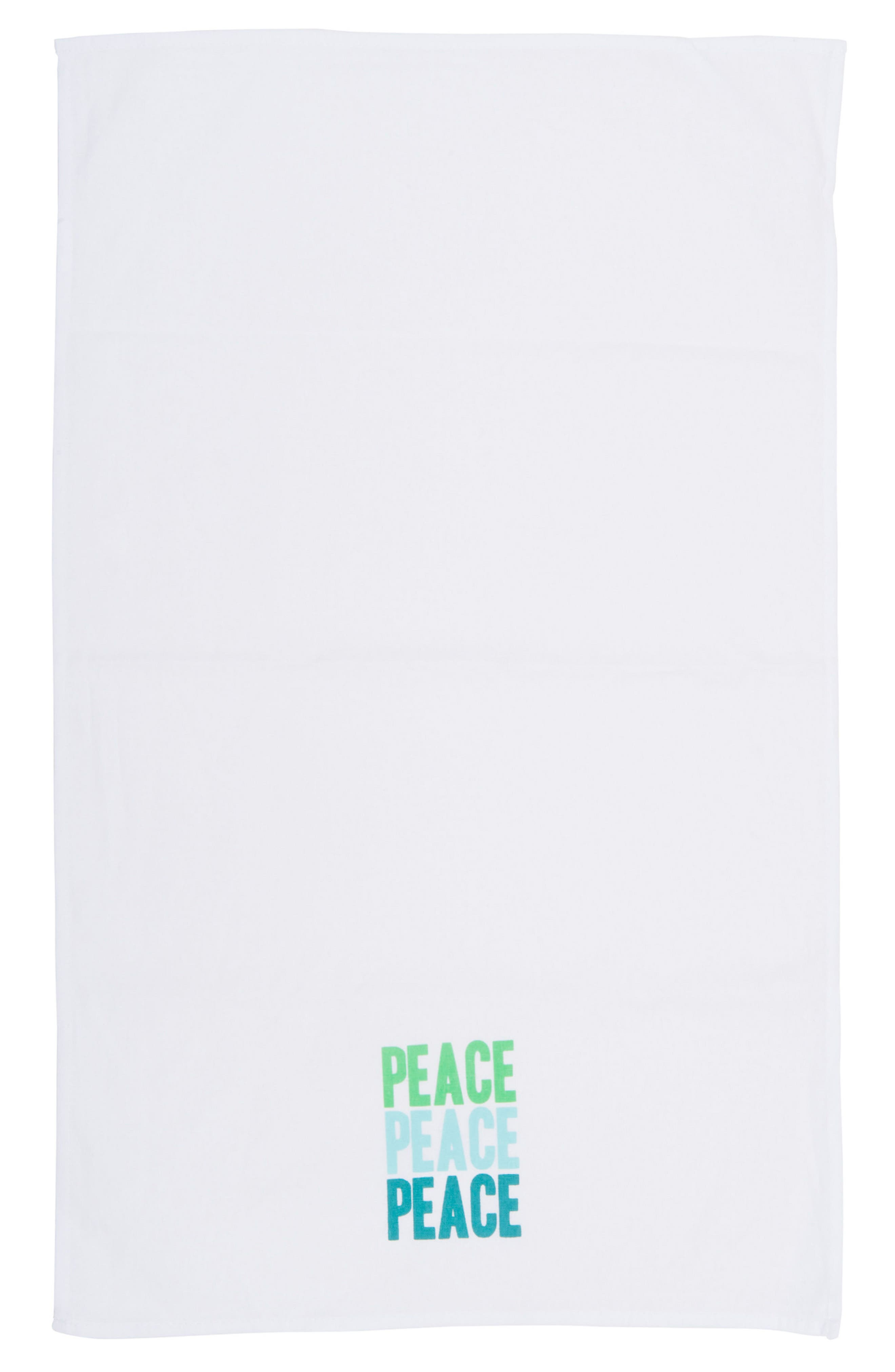 Peace Love Happiness Set of 3 Tea Towels,                             Alternate thumbnail 5, color,                             100