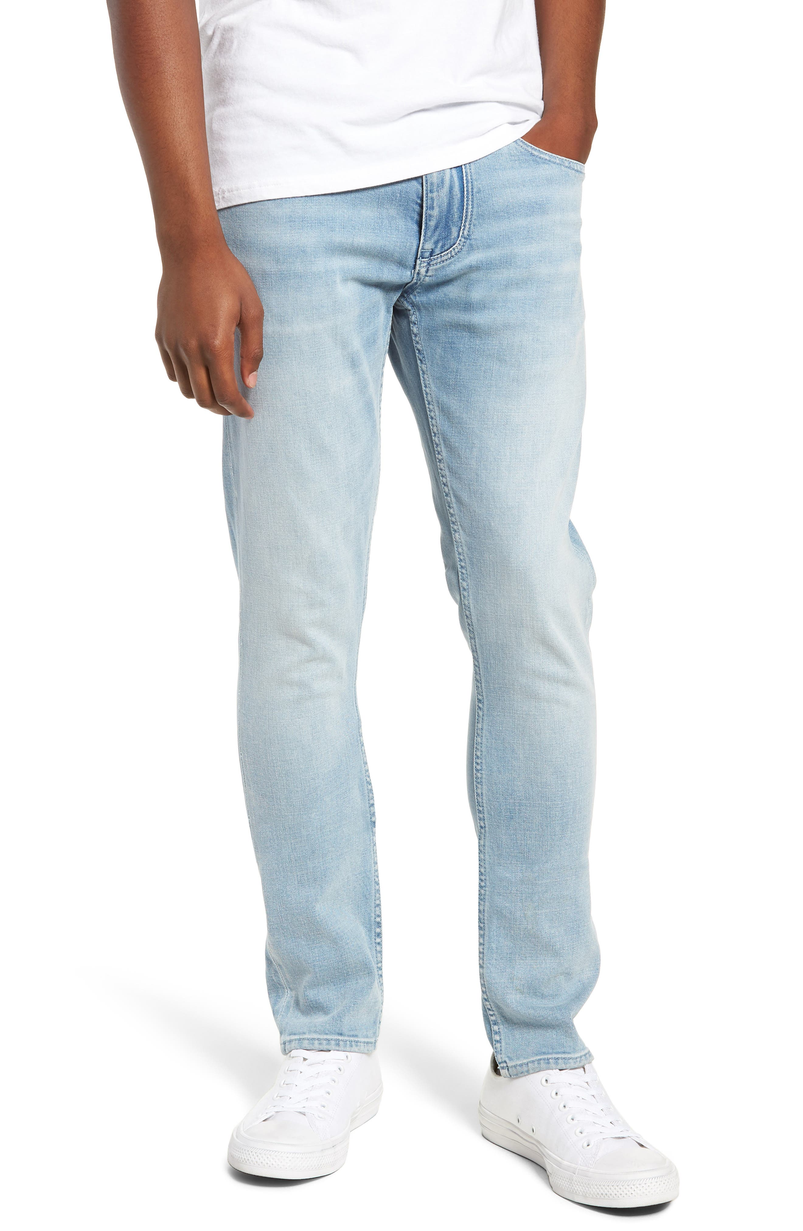 Horatio Skinny Fit Jeans, Main, color, 450