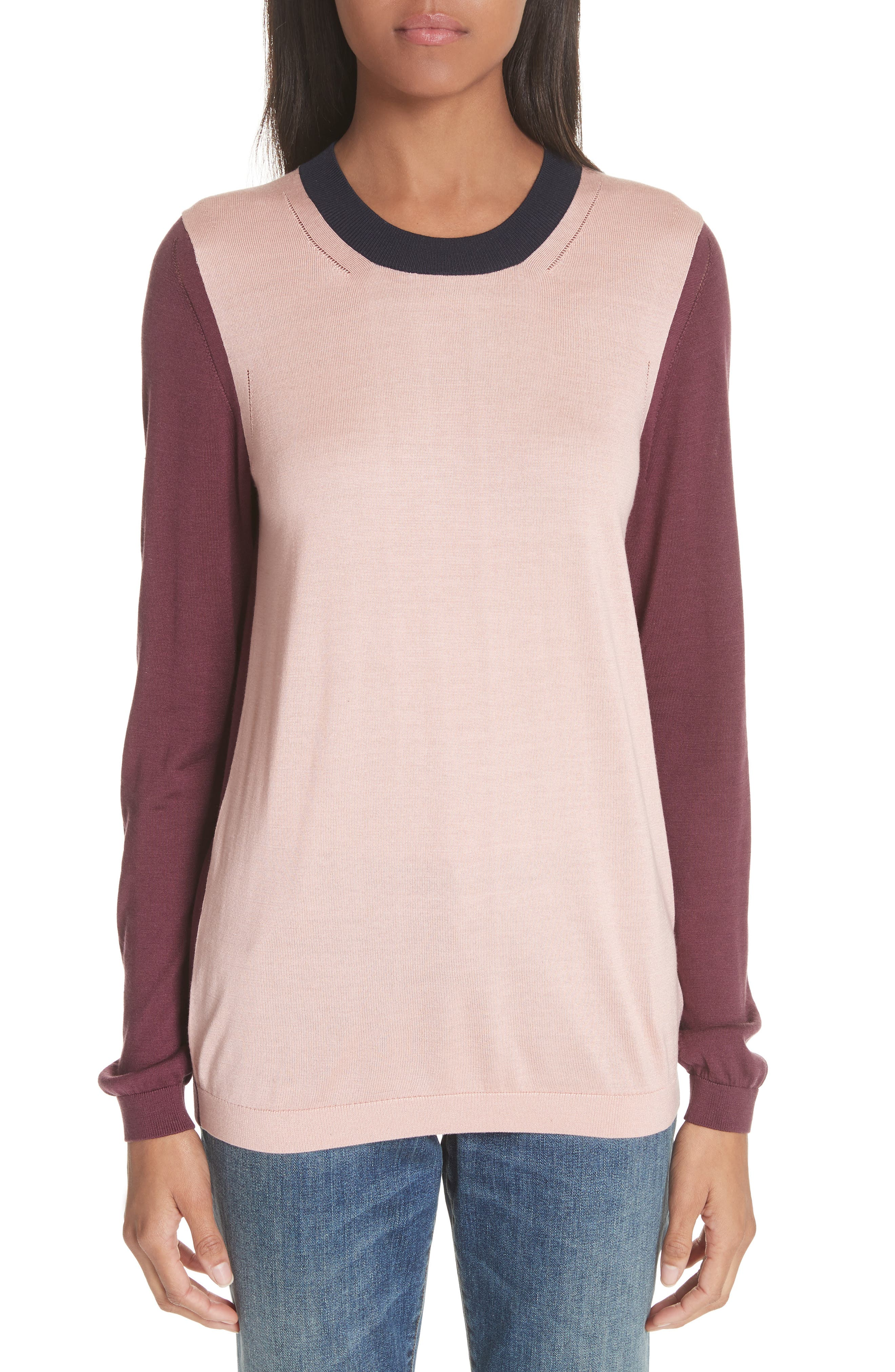 Buck 57 Silk & Cashmere Sweater,                         Main,                         color, PINK APRICOT