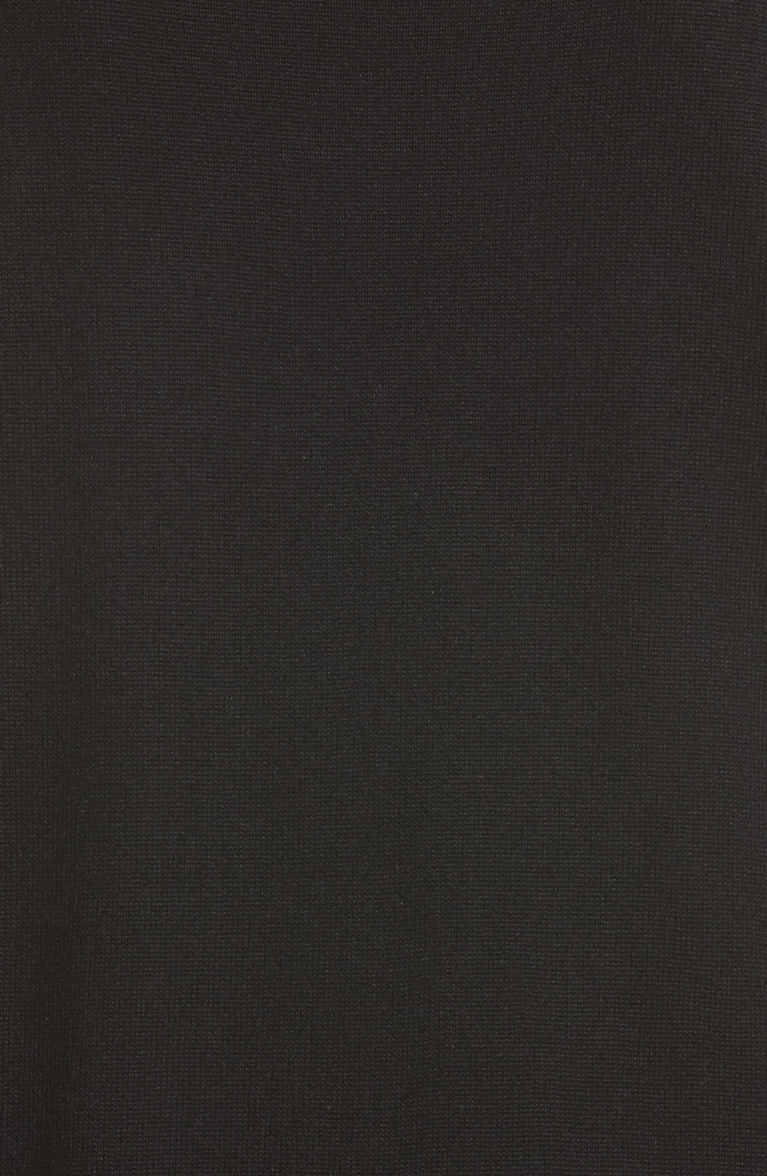Asymmetrical Jersey Knit Sweater,                             Alternate thumbnail 5, color,                             001