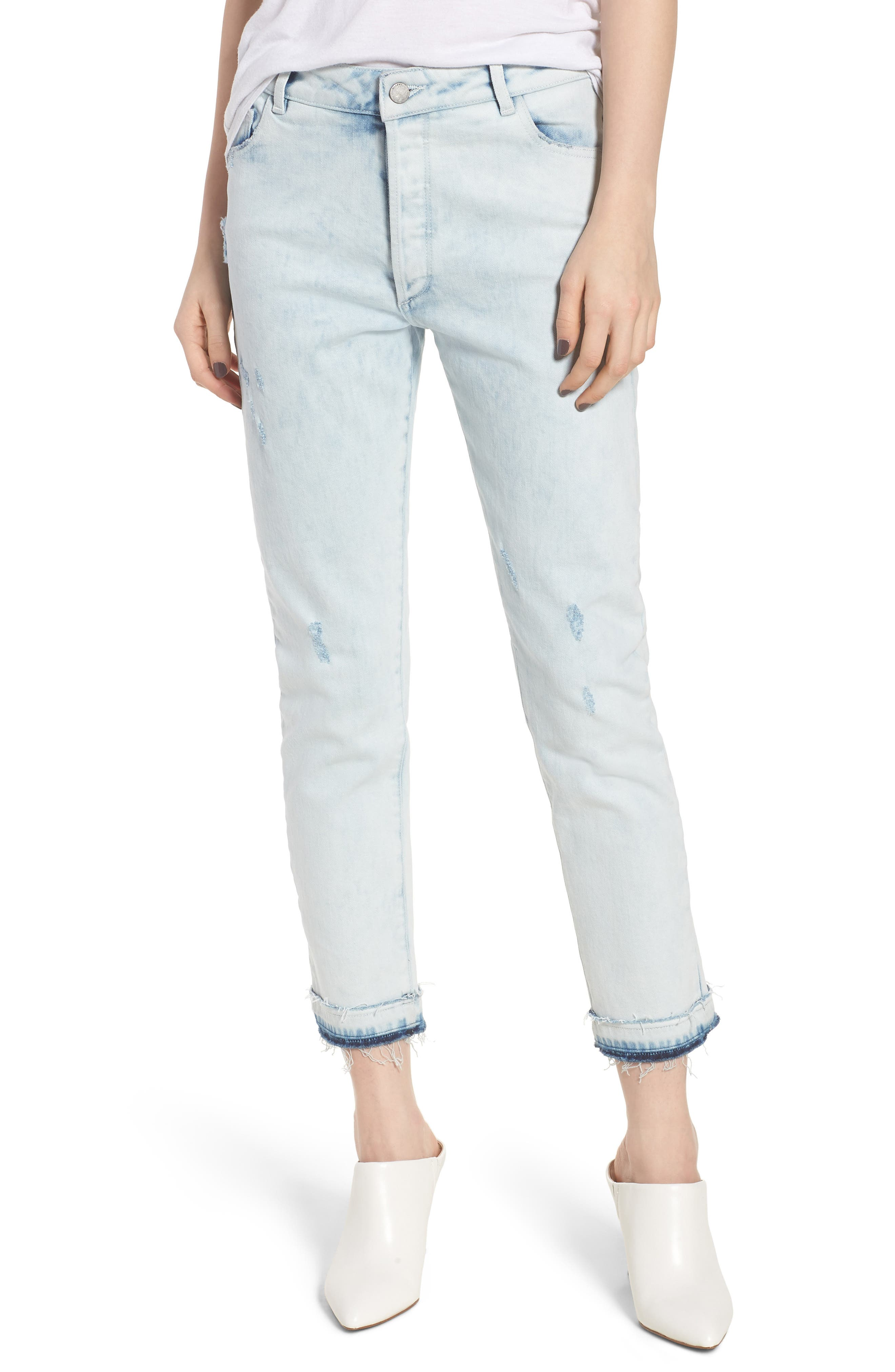Bella Vintage Crop Slim Jeans,                             Main thumbnail 1, color,