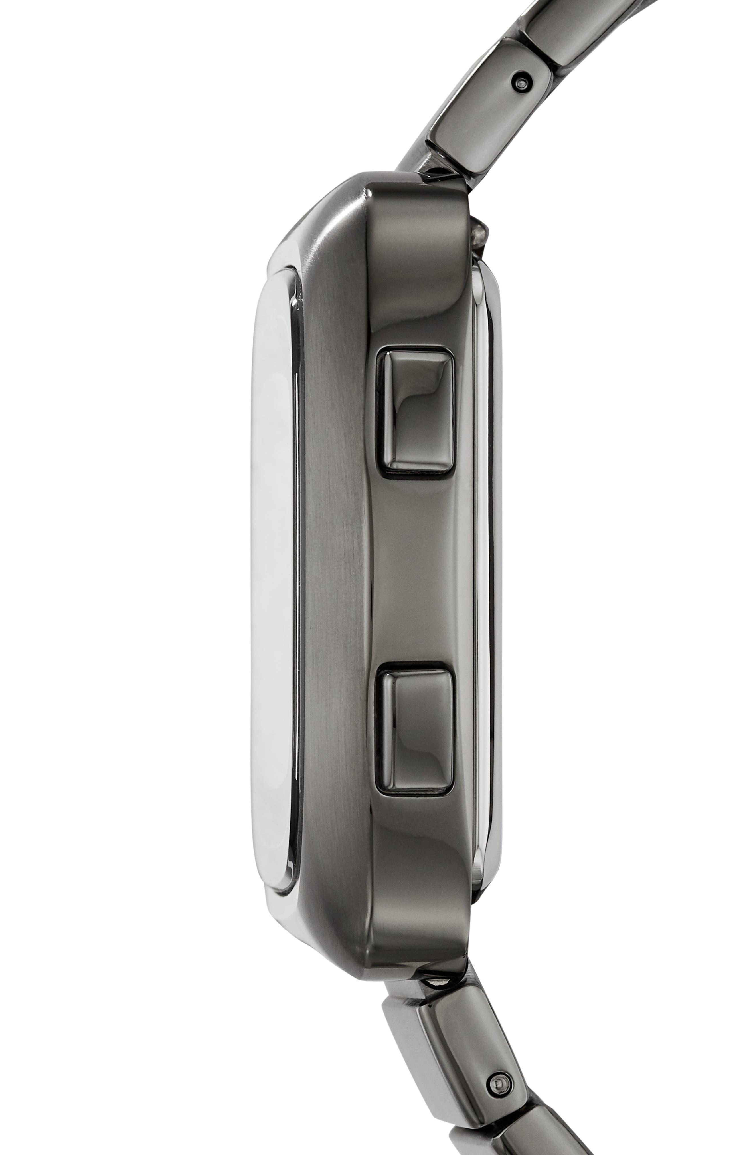 Rutherford Digital Bracelet Watch, 38mm,                             Alternate thumbnail 3, color,