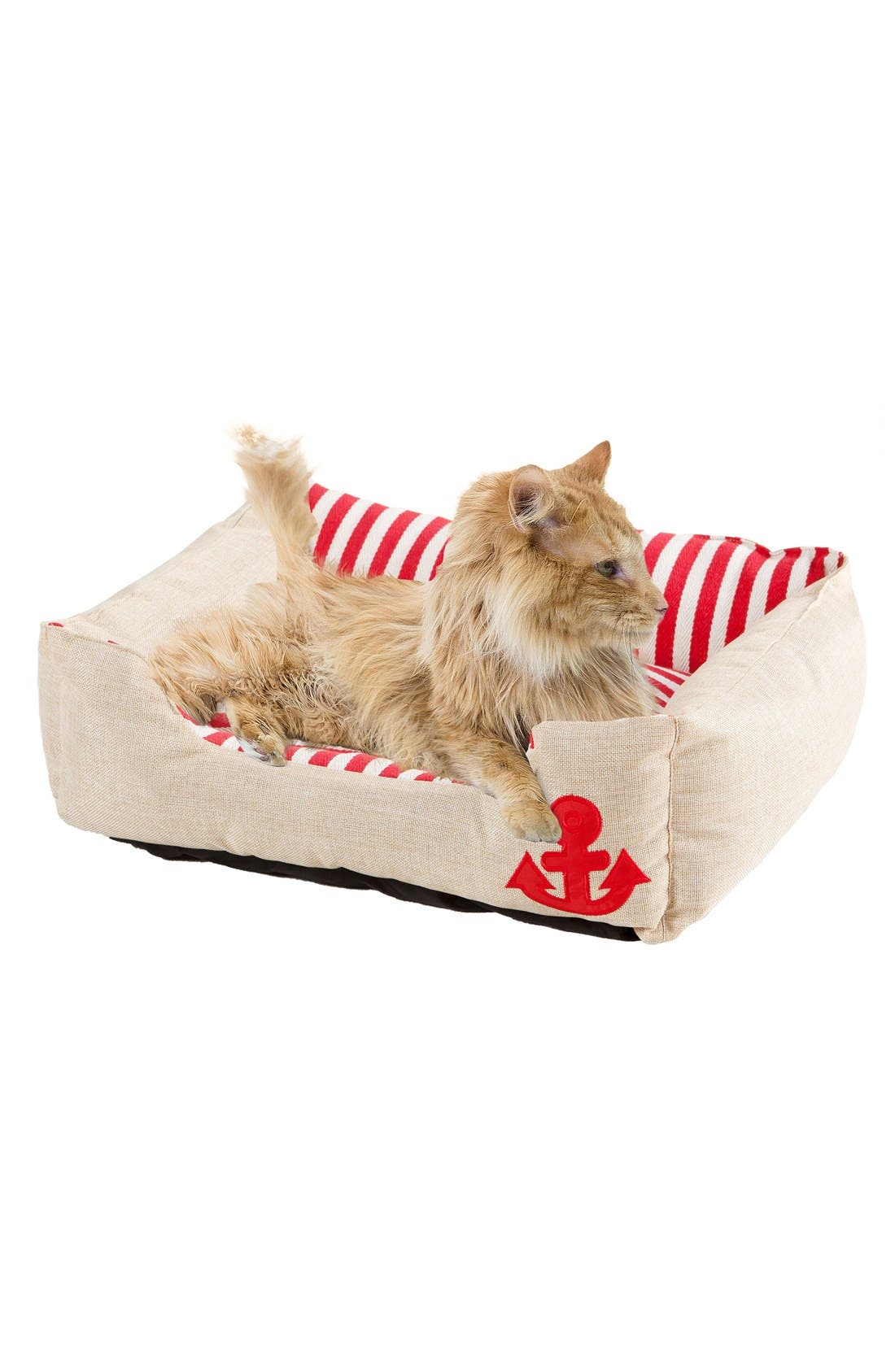 Everly Nautical Pet Bed,                             Main thumbnail 1, color,