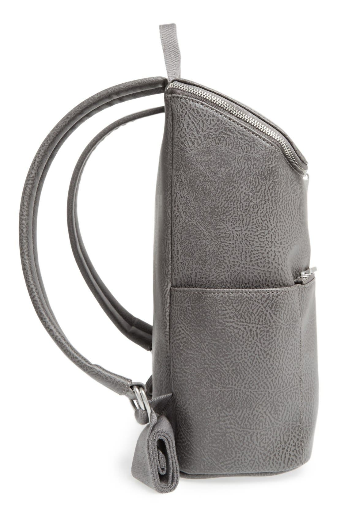 'Brave' Faux Leather Backpack,                             Alternate thumbnail 55, color,