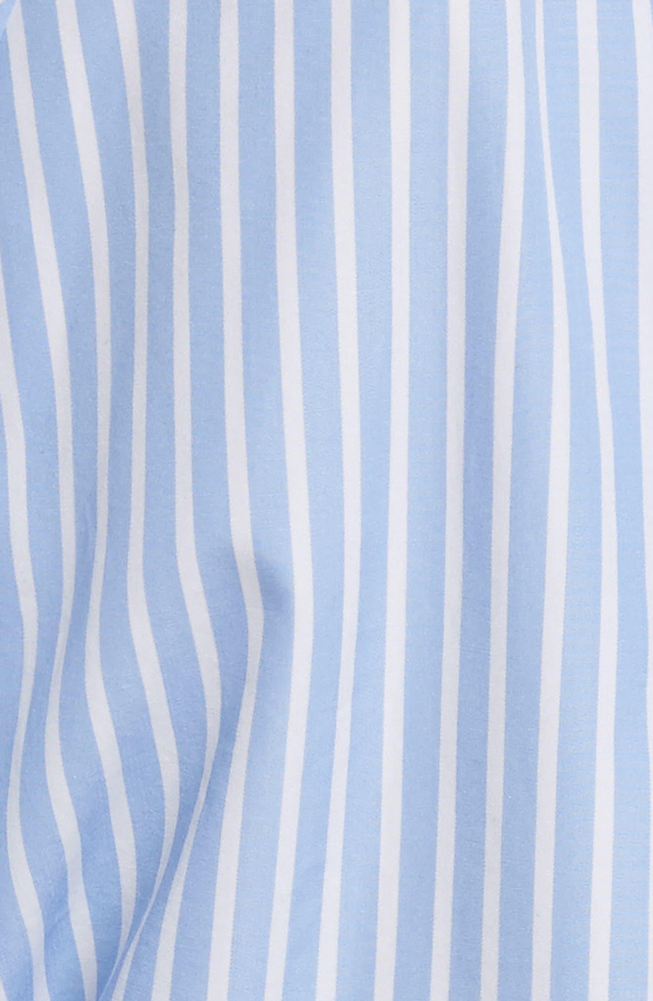 Diane von Furstenberg Keyhole Crop Cotton Blouse,                             Alternate thumbnail 5, color,