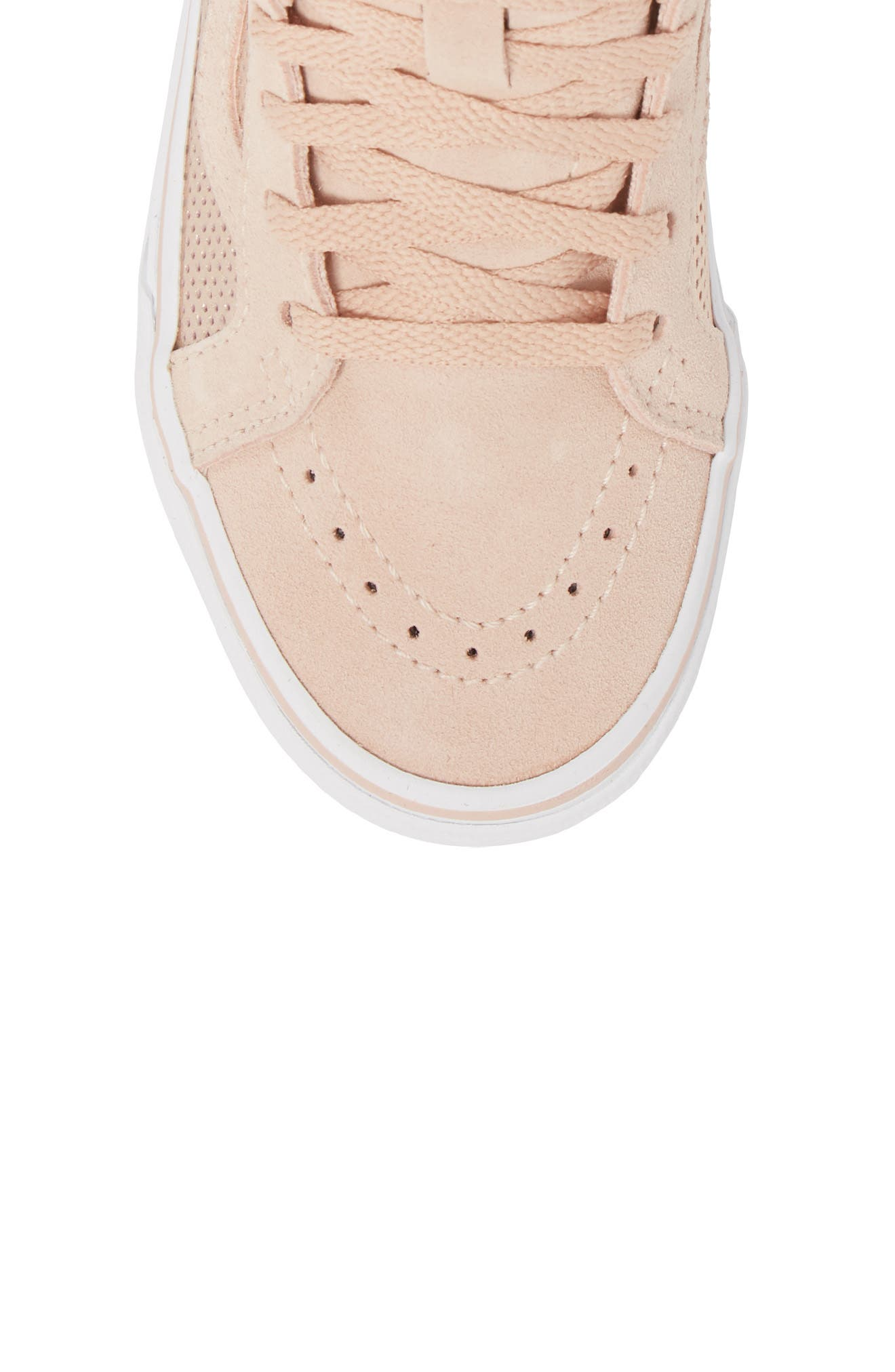 SK8-Hi Zip Sneaker,                             Alternate thumbnail 5, color,                             ROSE GOLD SUEDE LEATHER