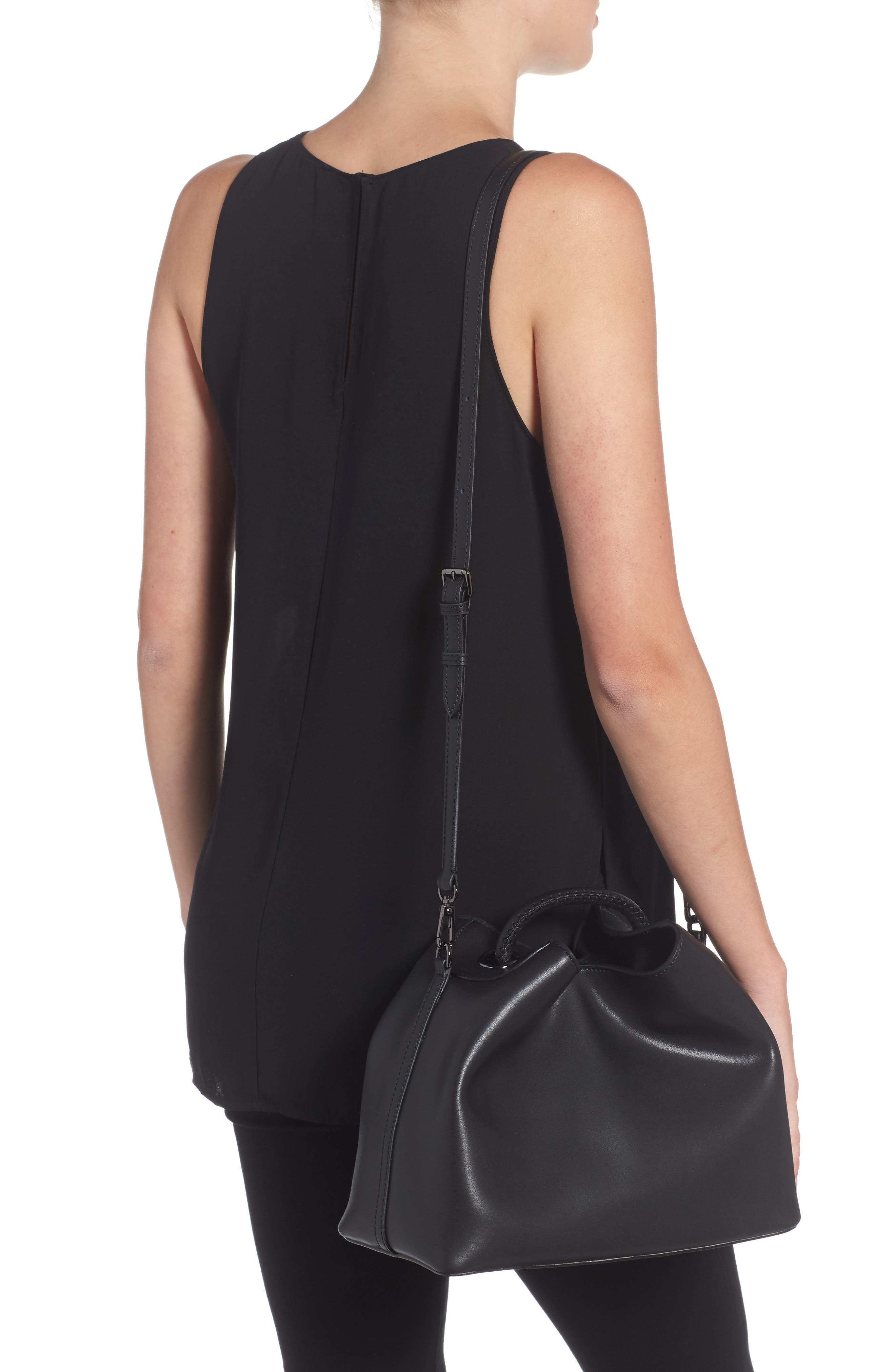 Raisin Leather Handbag,                             Alternate thumbnail 9, color,