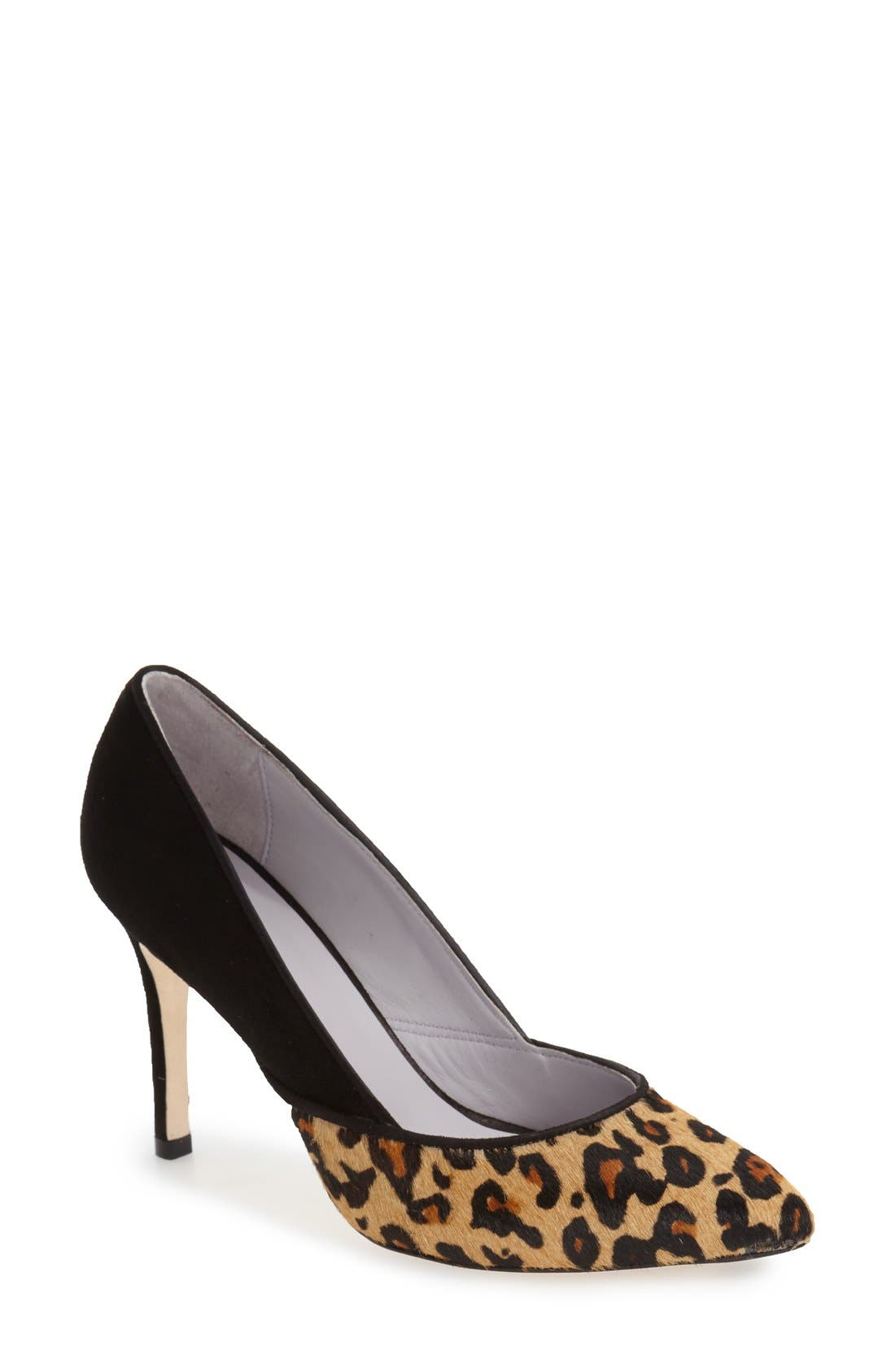 'Vanessa' Pointy Toe Leather Pump,                             Main thumbnail 2, color,