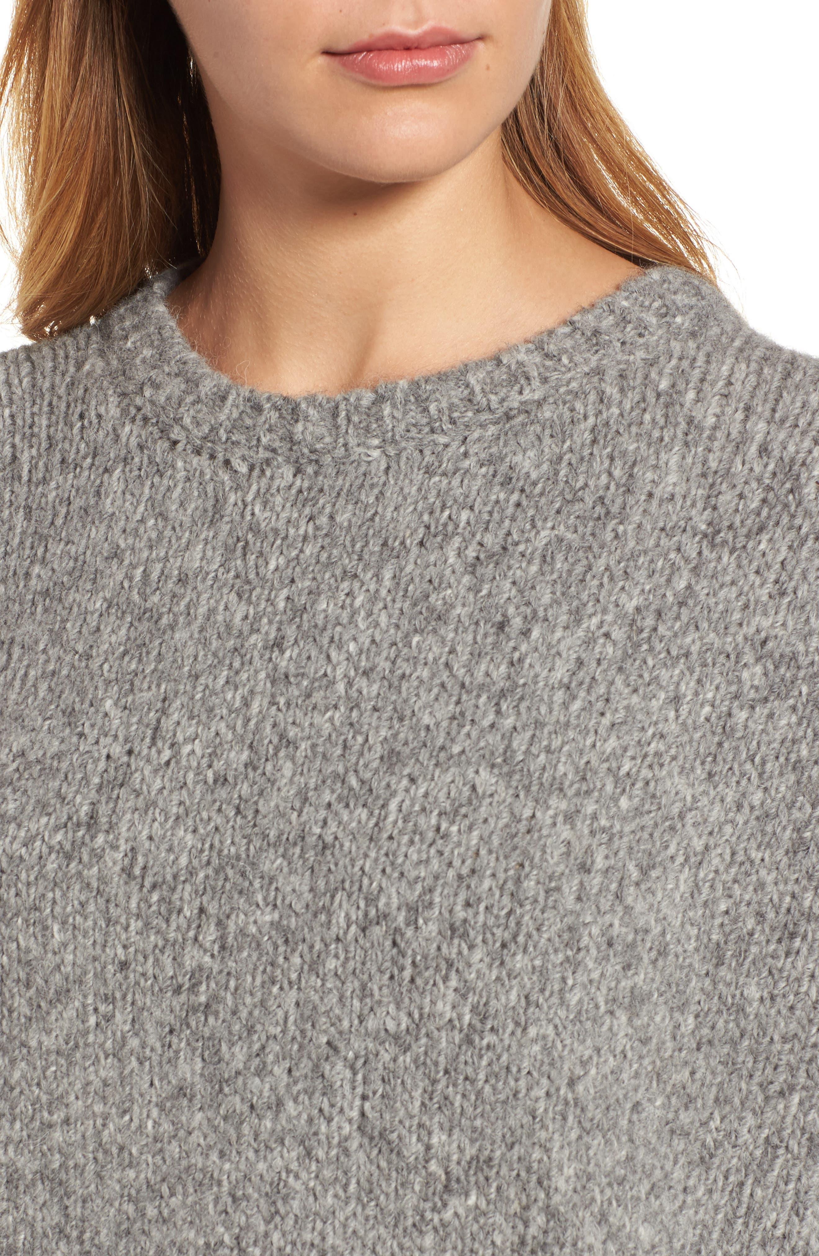 High/Low Alpaca Blend Sweater,                             Alternate thumbnail 4, color,                             187