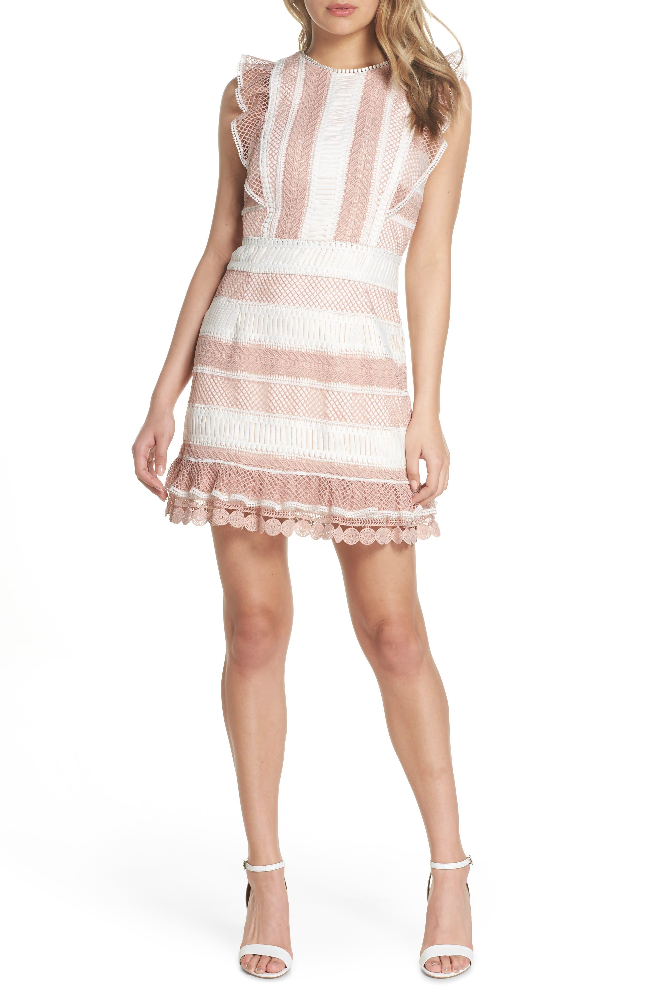 Kingston Stripe Lace Sheath Dress,                             Main thumbnail 1, color,                             661
