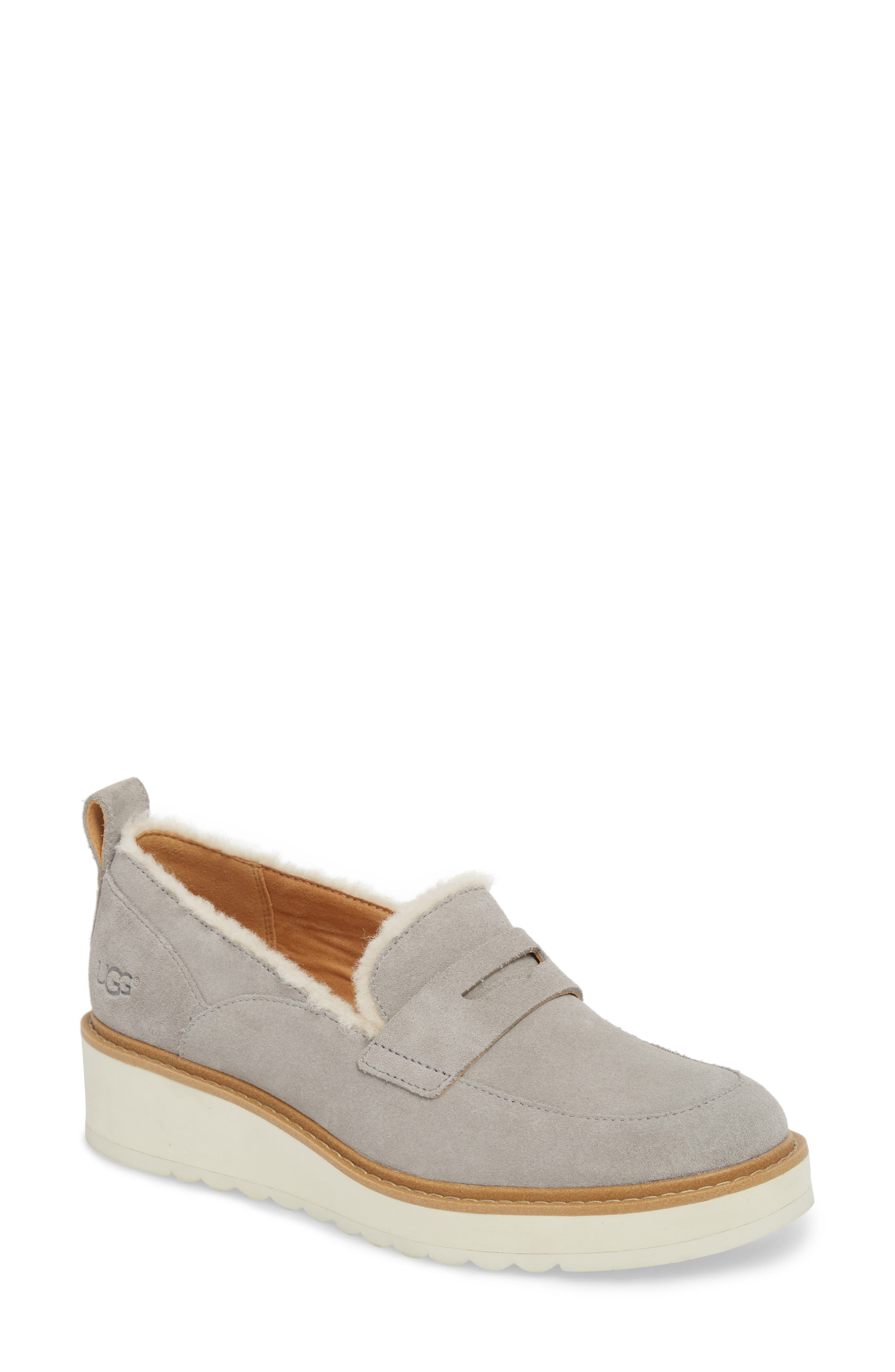Ugg Atwater Spill Seam Wedge Loafer, Grey