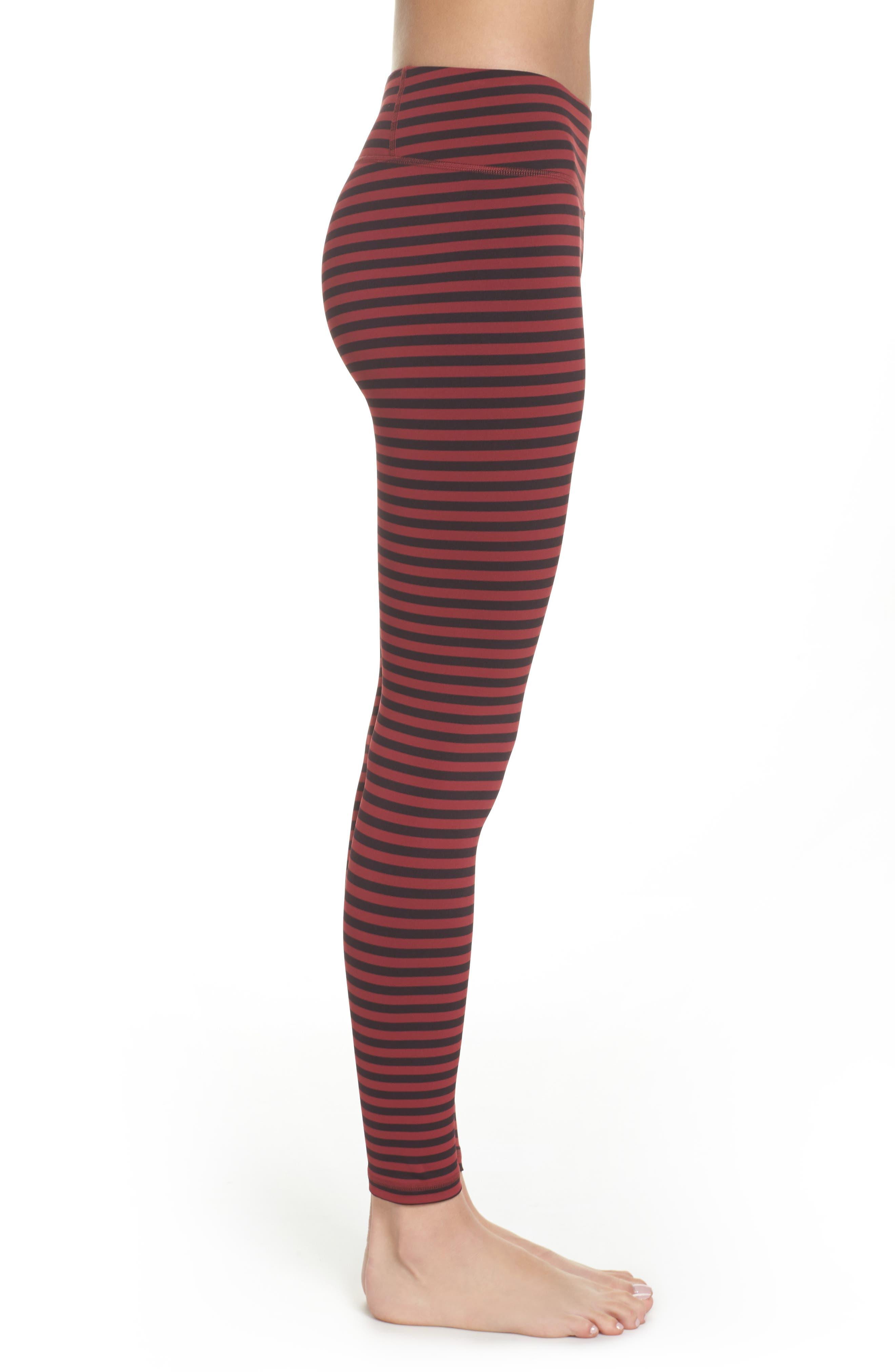 Stripe 7/8 Leggings,                             Alternate thumbnail 3, color,                             601