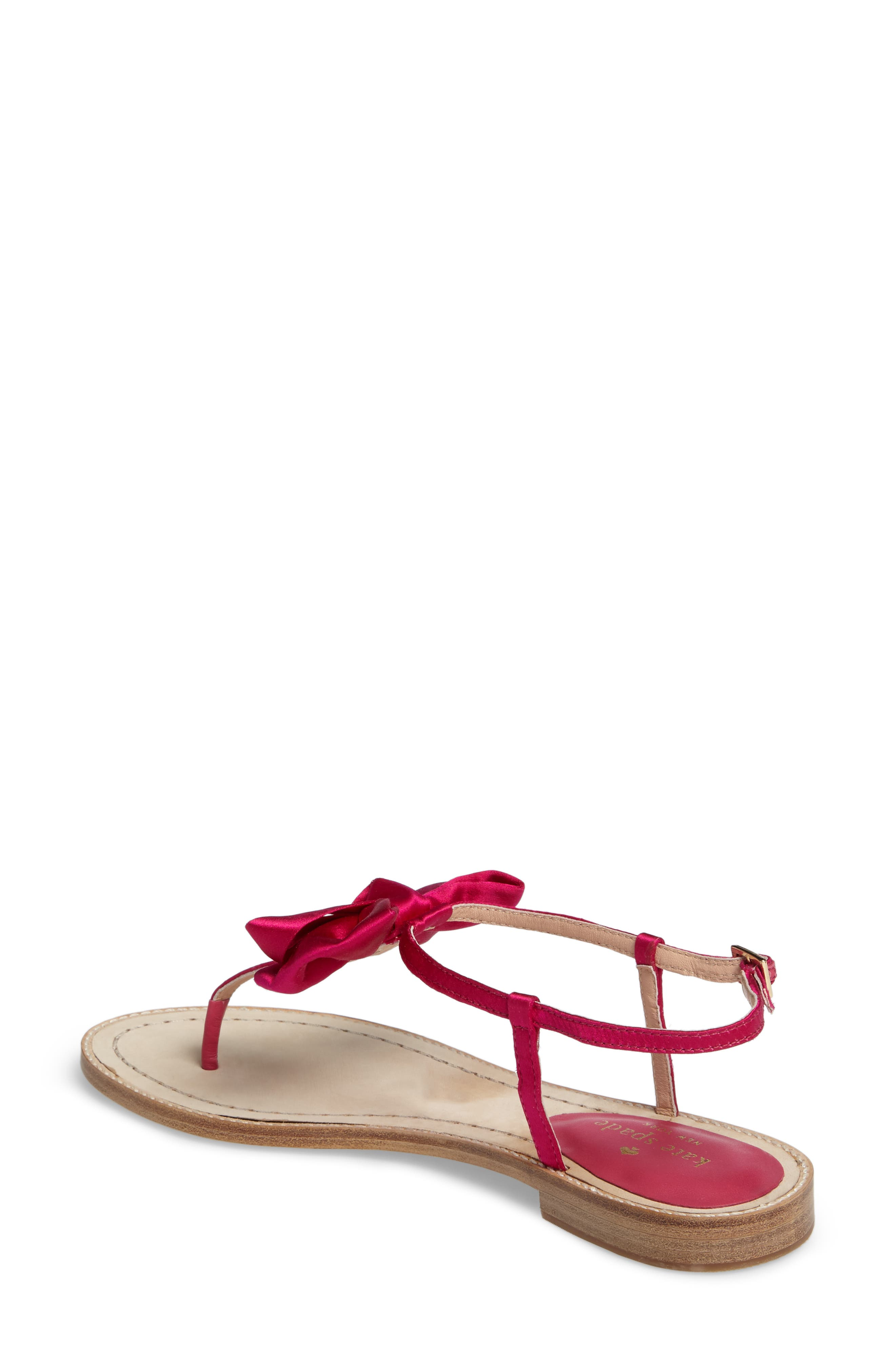 serrano bow sandal,                             Alternate thumbnail 7, color,