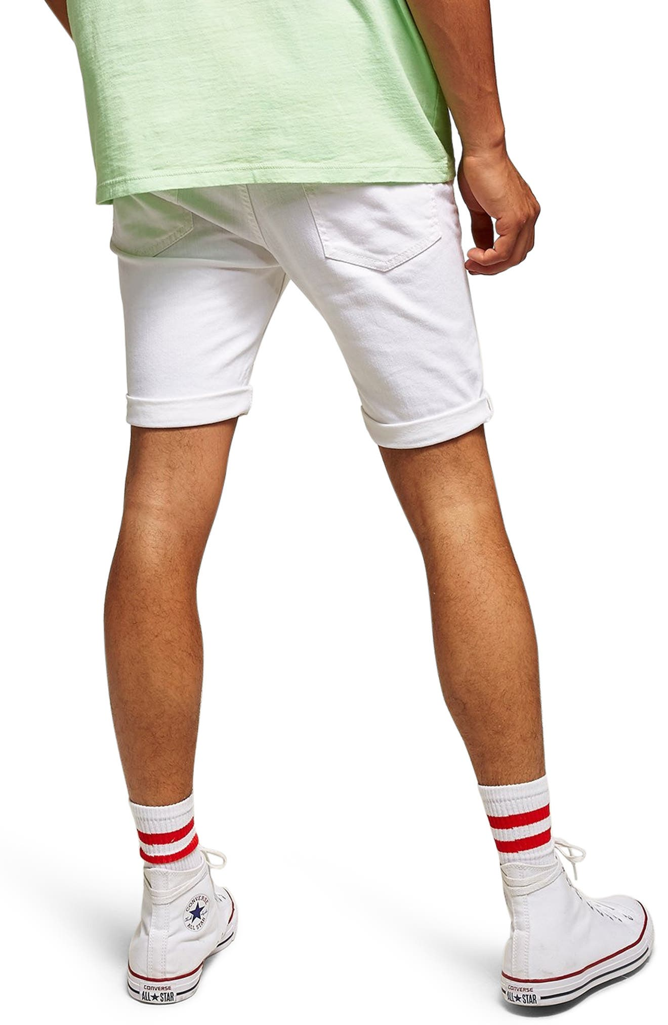 Morgan Stretch Skinny Shorts,                             Alternate thumbnail 2, color,                             100