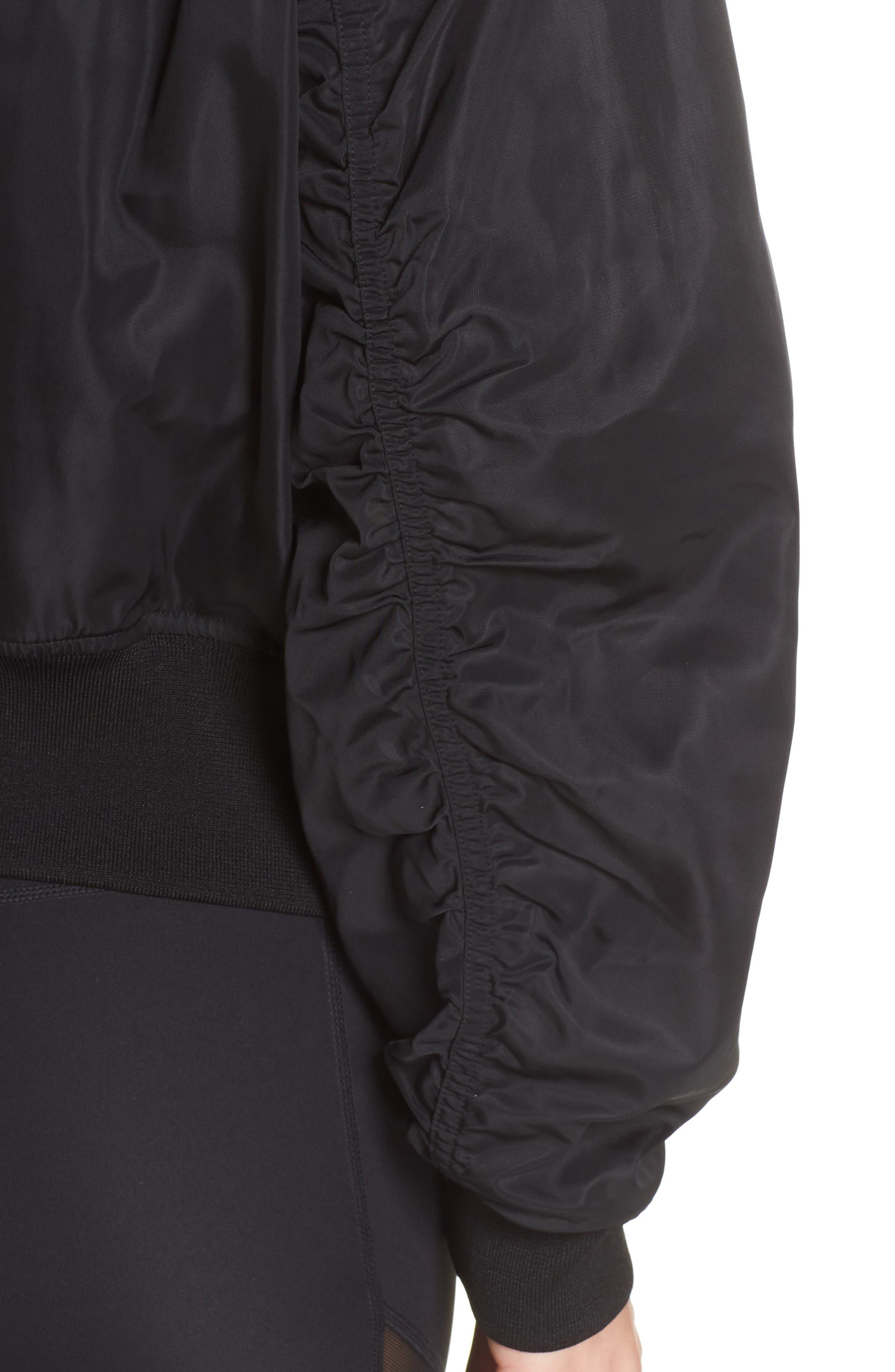 Luxury Bomber Jacket,                             Alternate thumbnail 4, color,                             001