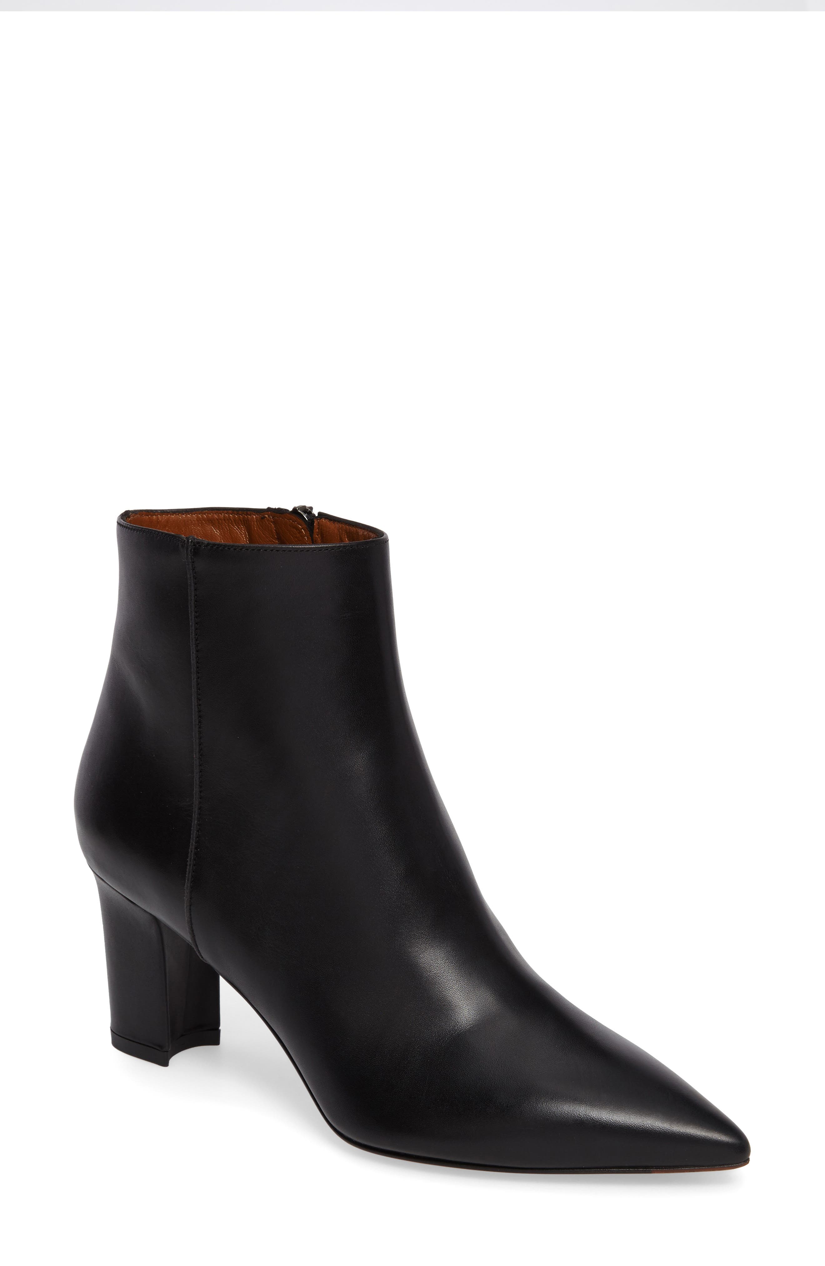 Maia Weatherproof Pointed Toe Bootie,                             Main thumbnail 1, color,                             002