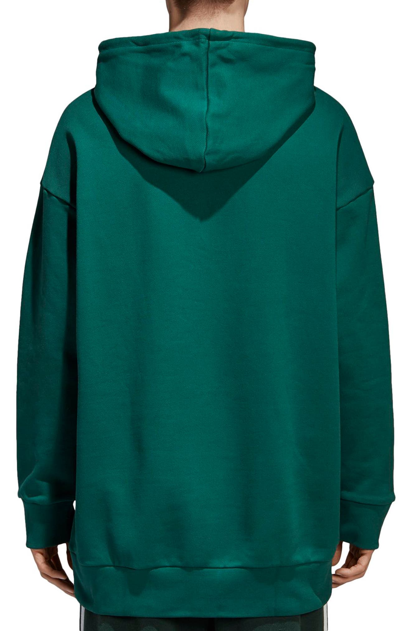 Trefoil Oversize Hoodie,                             Alternate thumbnail 2, color,                             305
