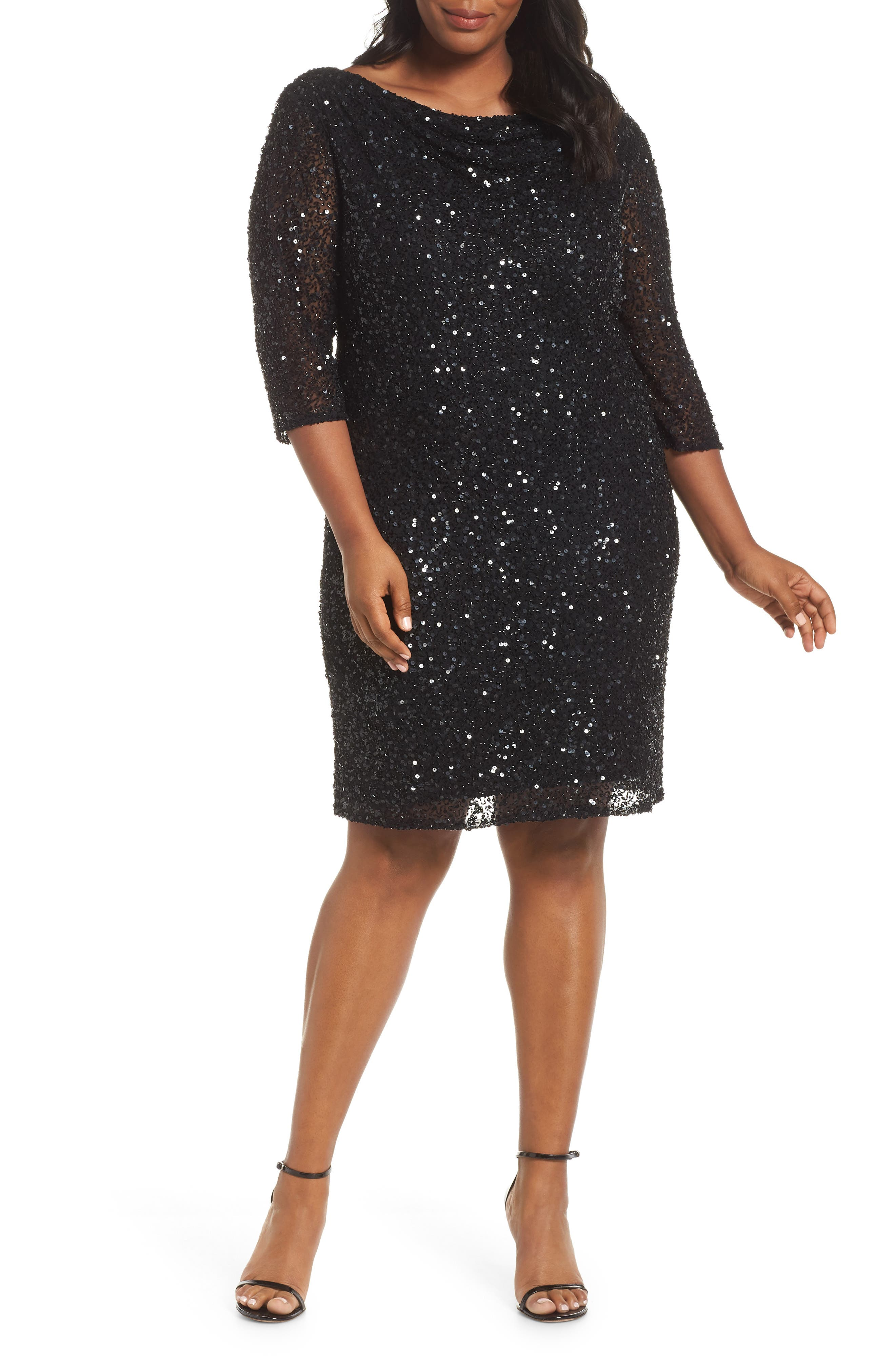 1920s Plus Size Flapper Dresses, Gatsby Dresses, Flapper Costumes Plus Size Womens Pisarro Nights Embellished Cocktail Dress $136.80 AT vintagedancer.com