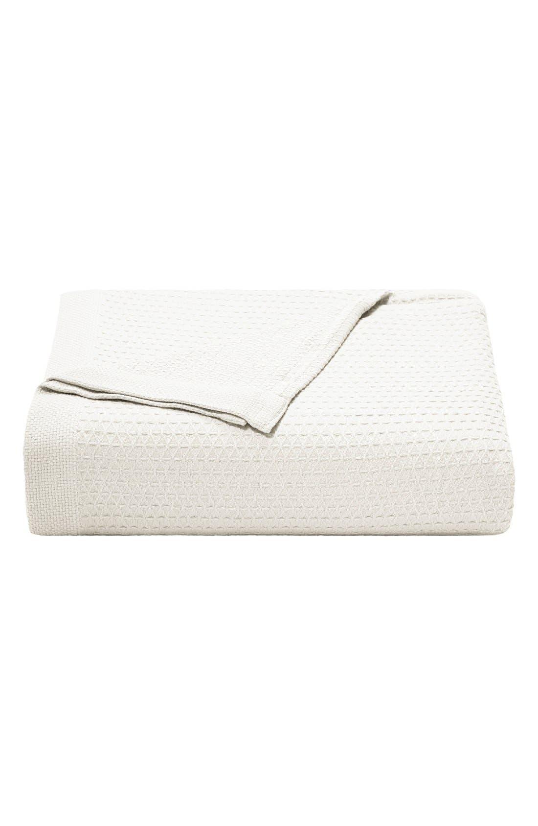 'Baird' Cotton Blanket,                             Main thumbnail 1, color,                             WHITE