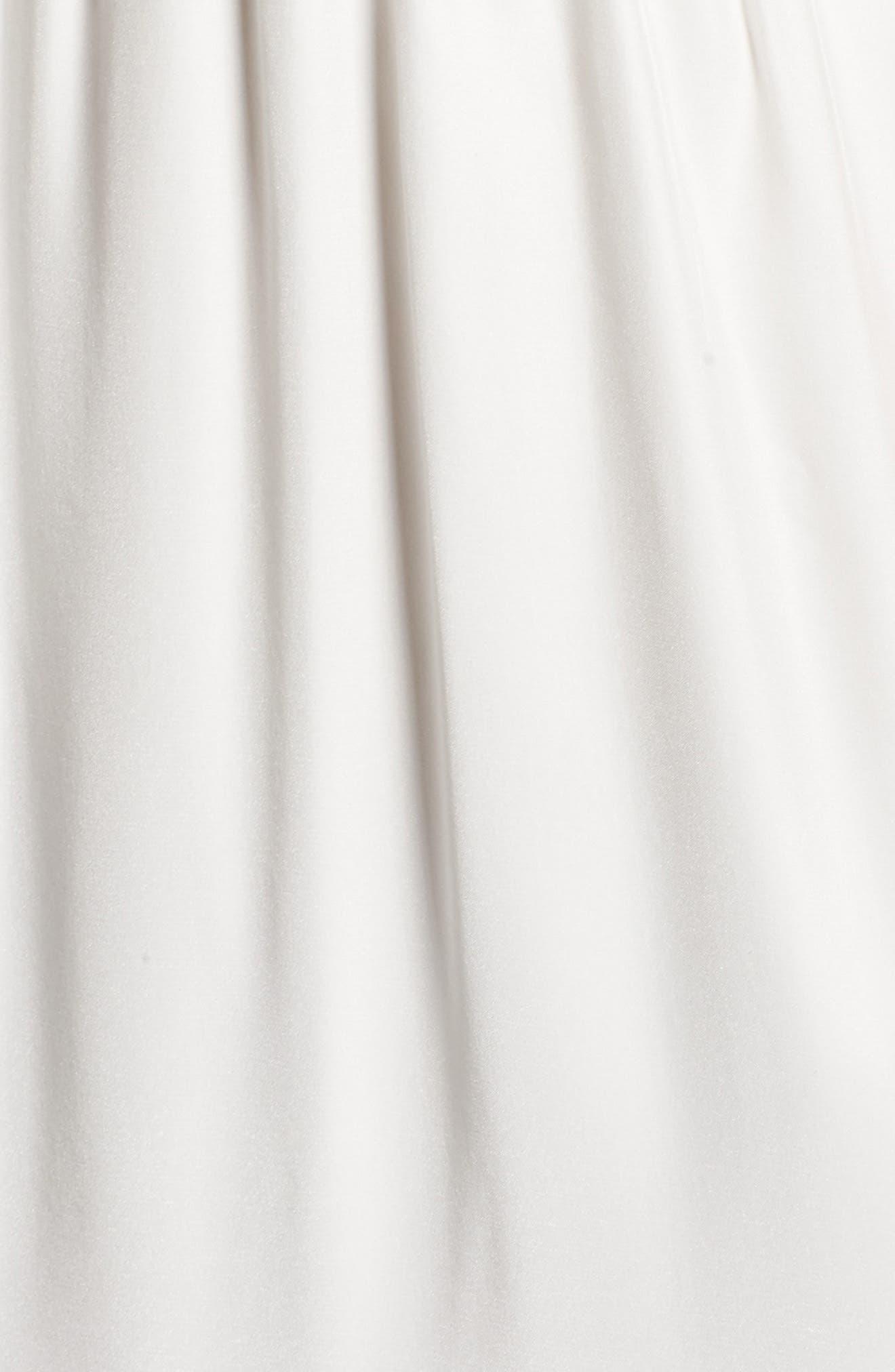 Drape Back Silk Column Gown,                             Alternate thumbnail 14, color,