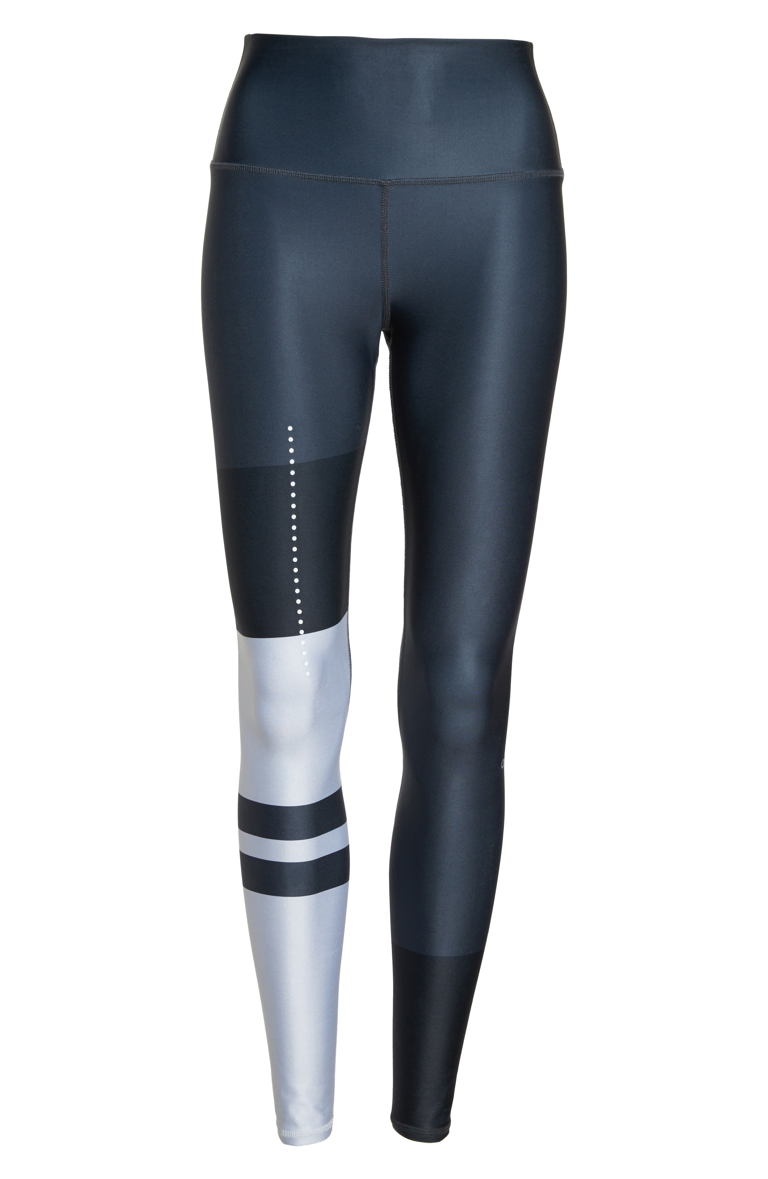Airbrush High Waist Leggings,                             Alternate thumbnail 7, color,                             ANTHRACITE ZENITH
