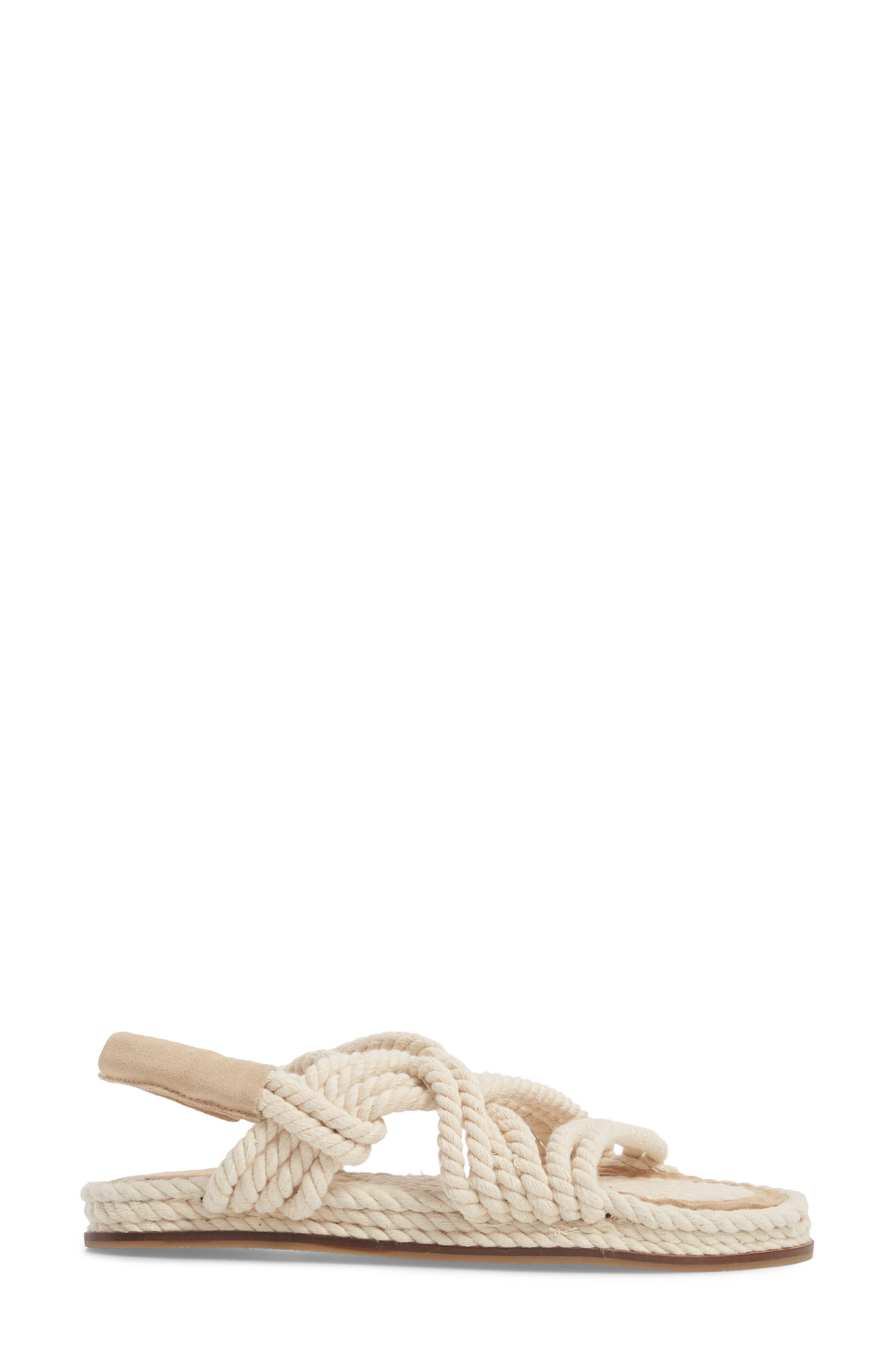 Fiesta Rope Flat Sandal,                             Alternate thumbnail 6, color,