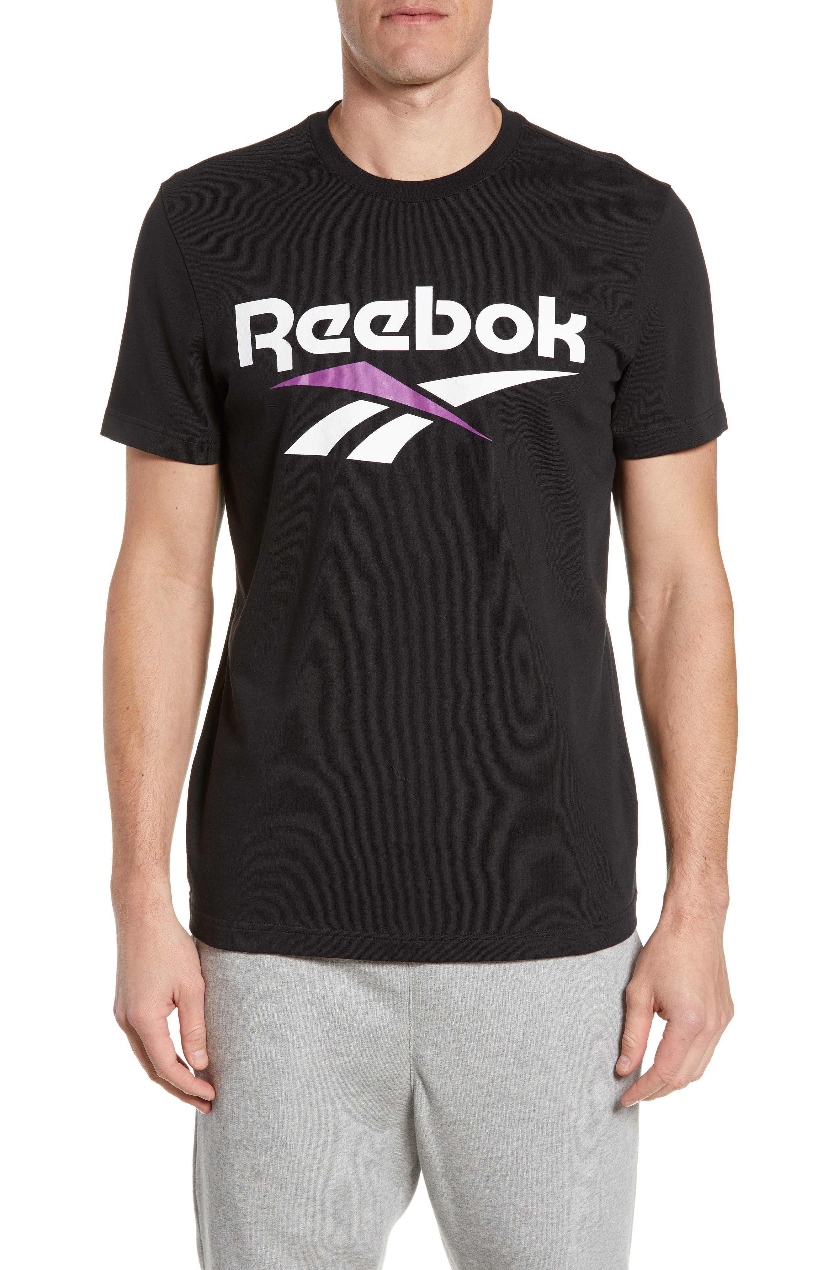 Reebok Classics Vector Logo T-Shirt, Black